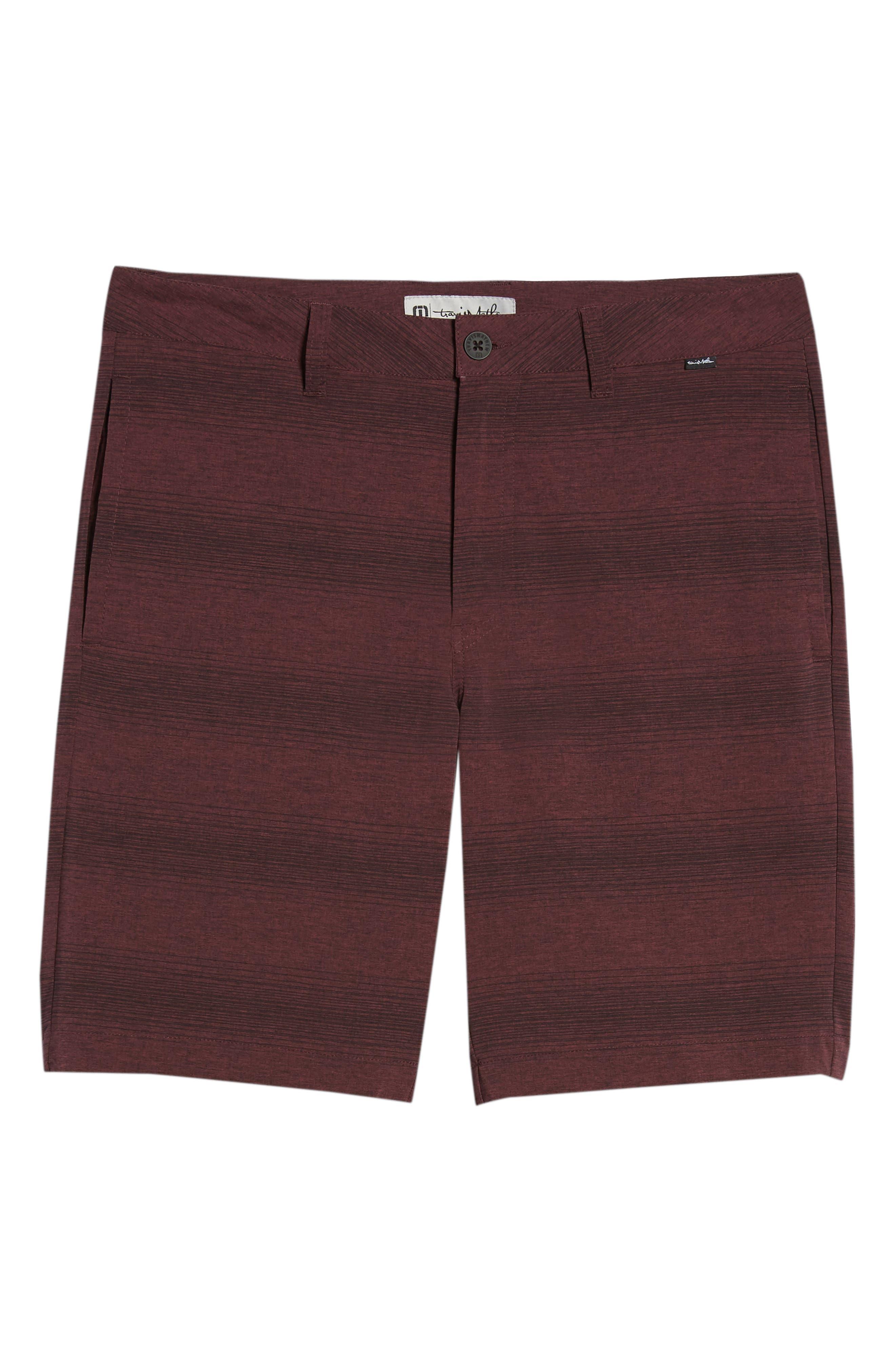 TRAVISMATHEW, Tepic Shorts, Alternate thumbnail 6, color, WINETASTING/ BLACK