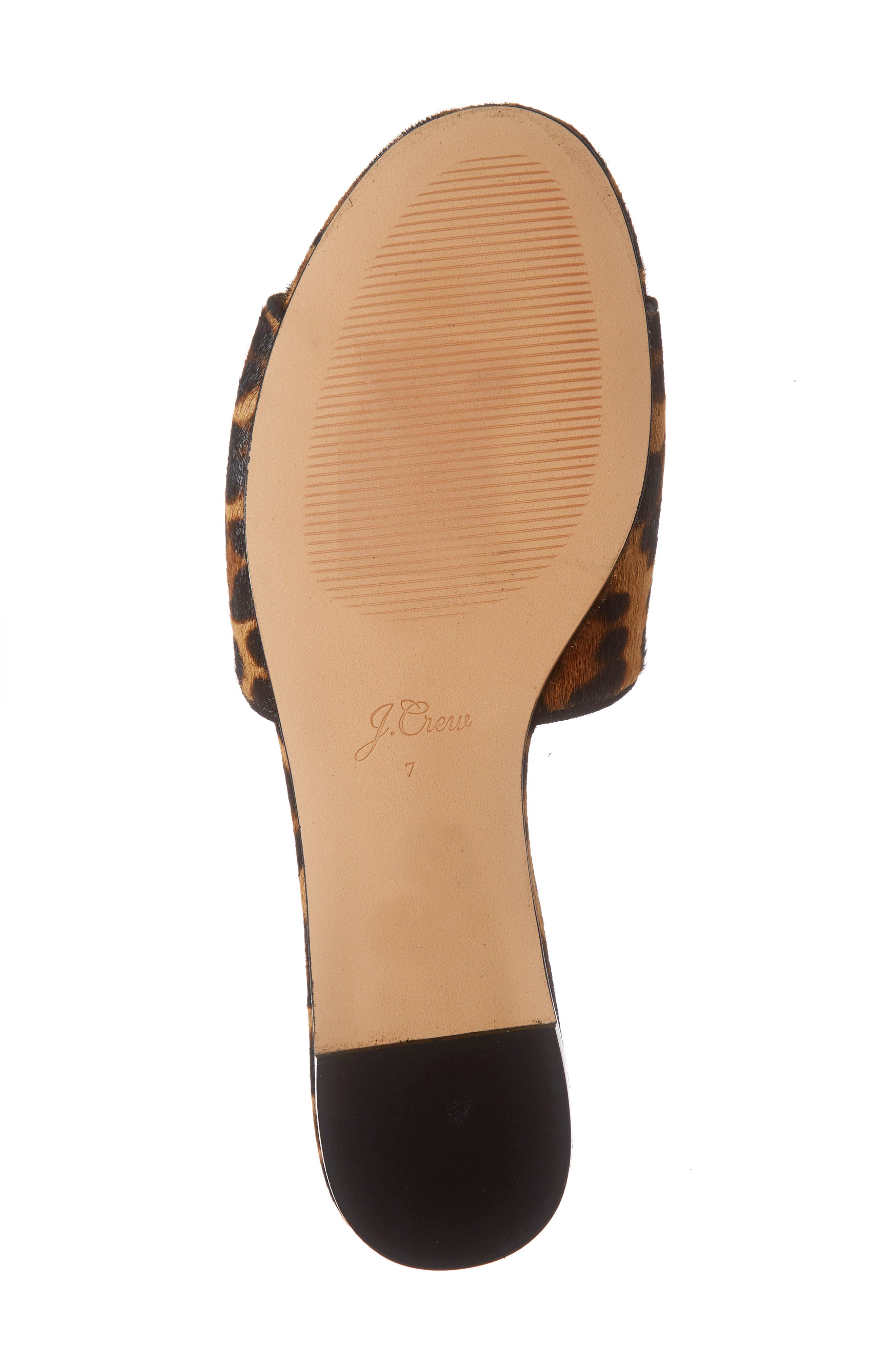 J.CREW, Cora Leopard Print Calf Hair Slide Sandal, Alternate thumbnail 6, color, LEOPARD PRINT CALF HAIR