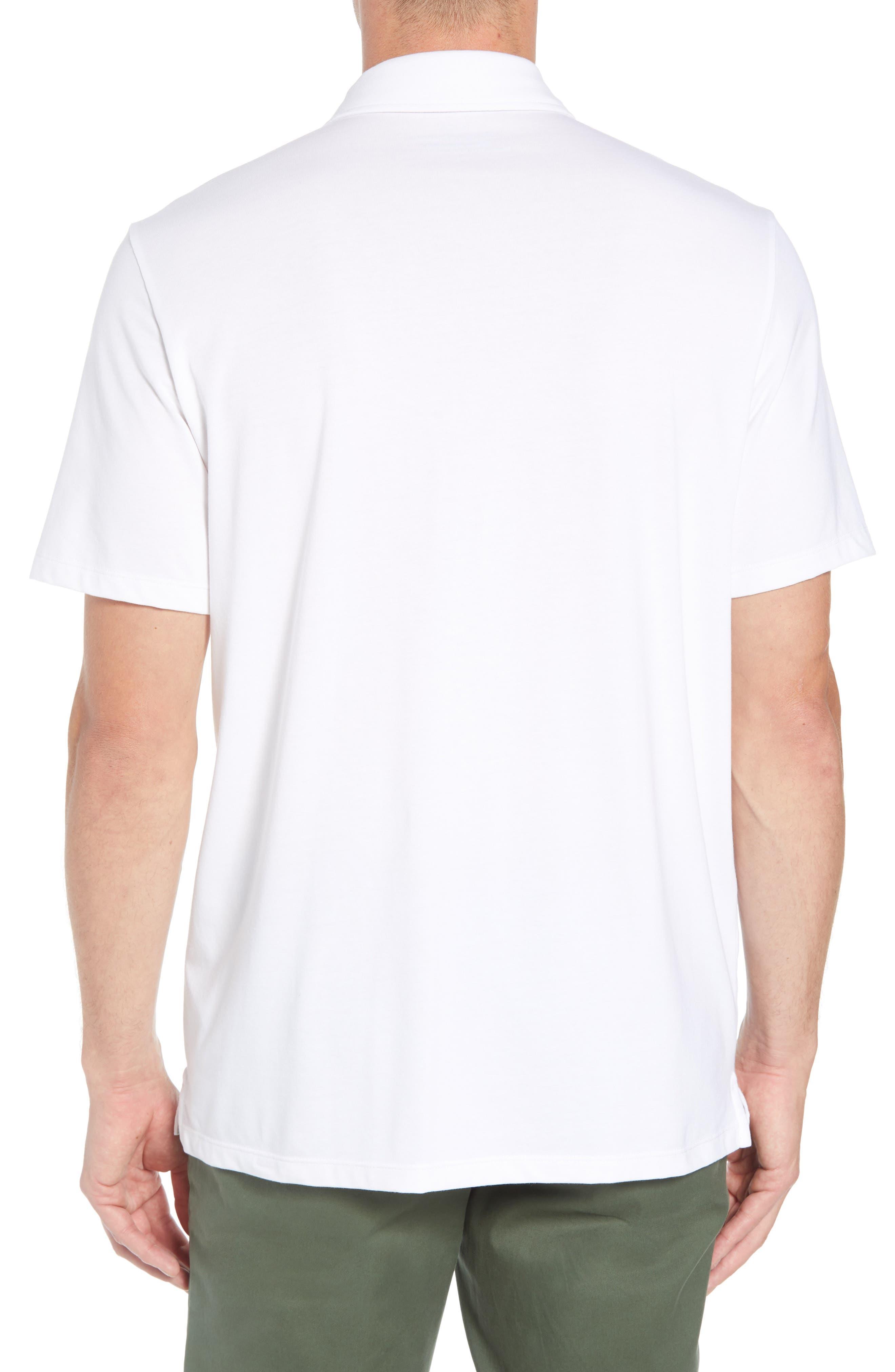 VINEYARD VINES, Edgartown Polo Shirt, Alternate thumbnail 2, color, WHITE CAP