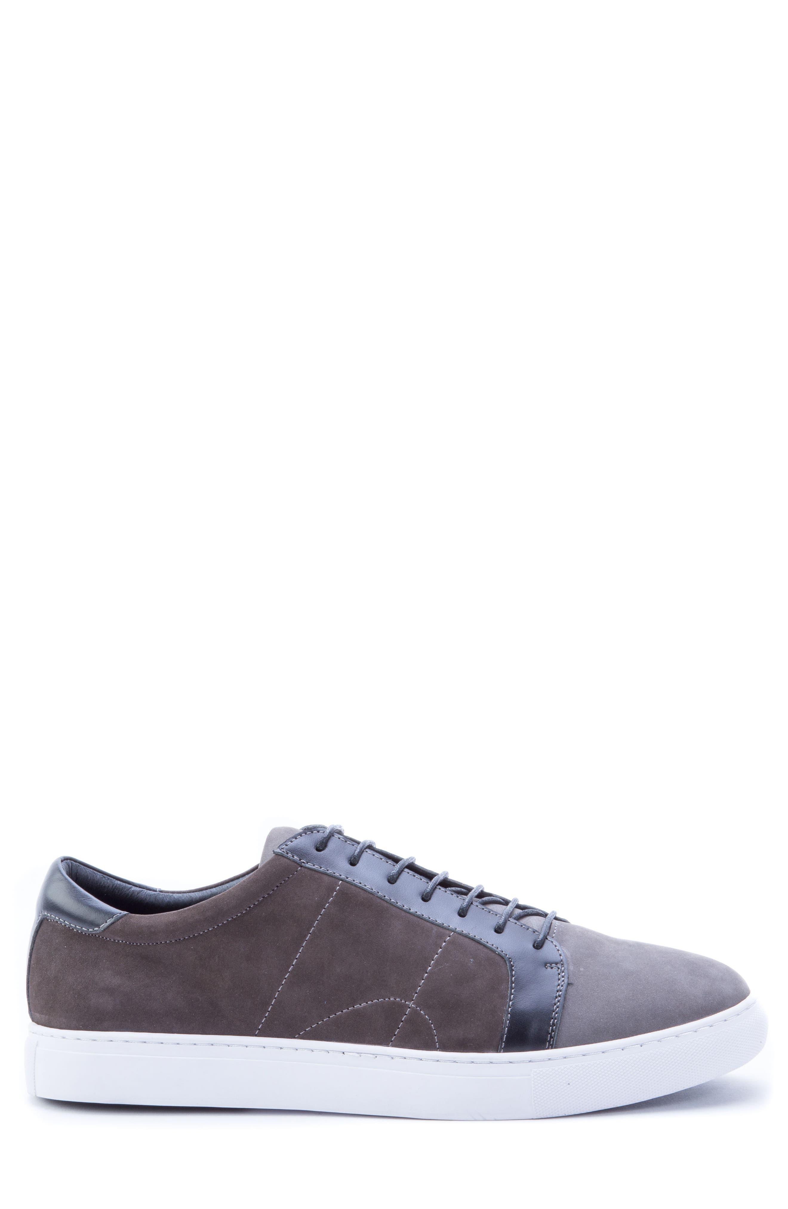 ROBERT GRAHAM, Gonzalo Low Top Sneaker, Alternate thumbnail 3, color, GREY SUEDE