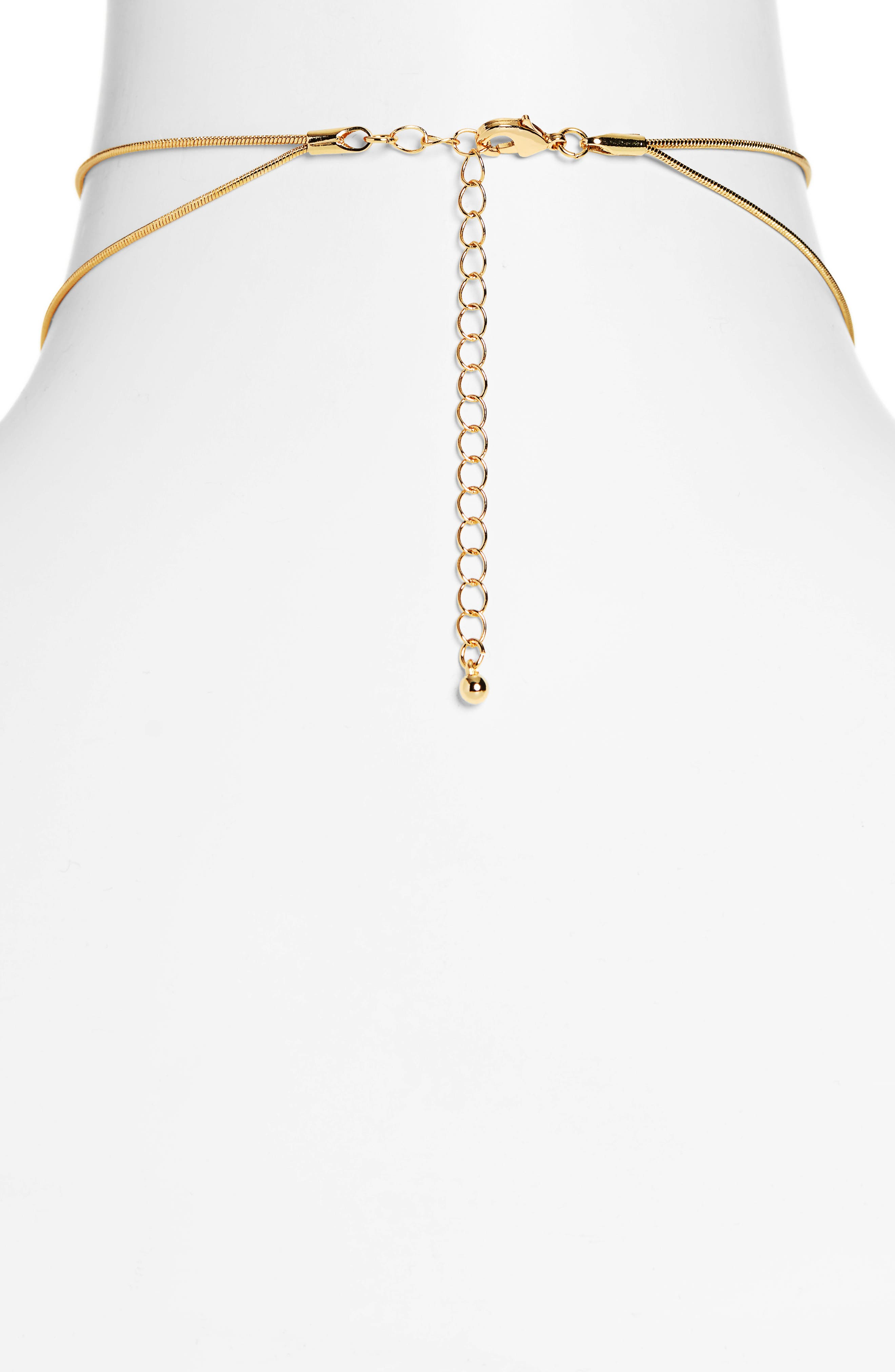 UNCOMMON JAMES BY KRISTIN CAVALLARI, Tennessee Multistrand Necklace, Alternate thumbnail 2, color, GOLD