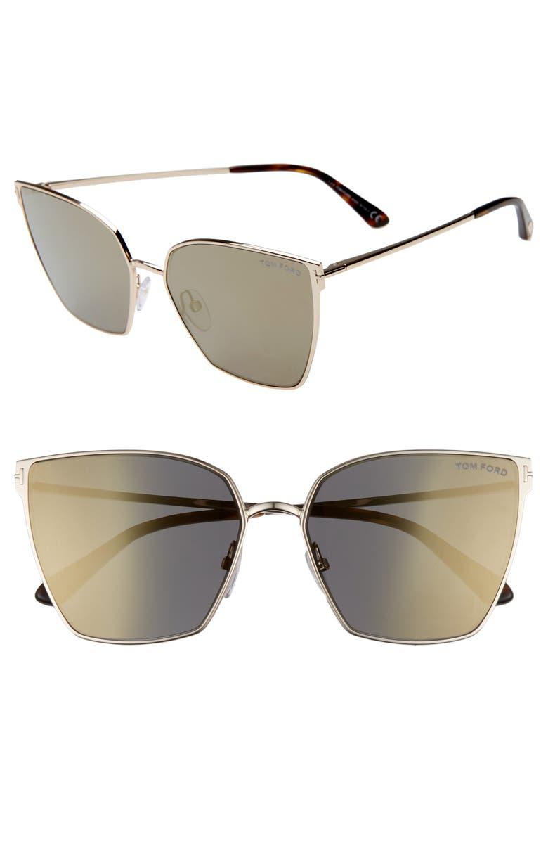 7a28c92cf389 Tom Ford Helena 59Mm Cat Eye Sunglasses - Rose Gold  Havana  Smoke