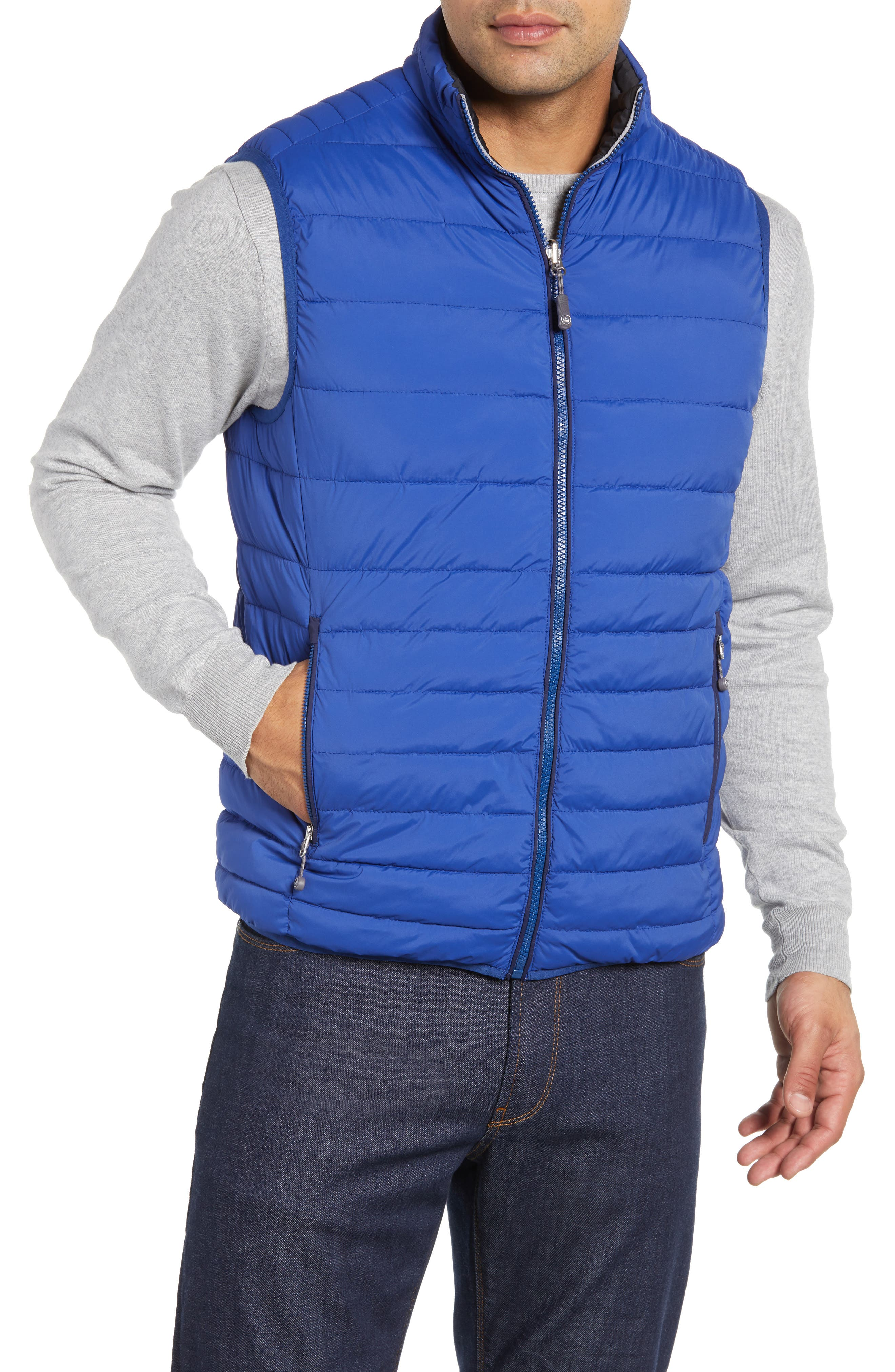 PETER MILLAR, Crown Elite Reversible Vest, Alternate thumbnail 2, color, BLACK/SAIL