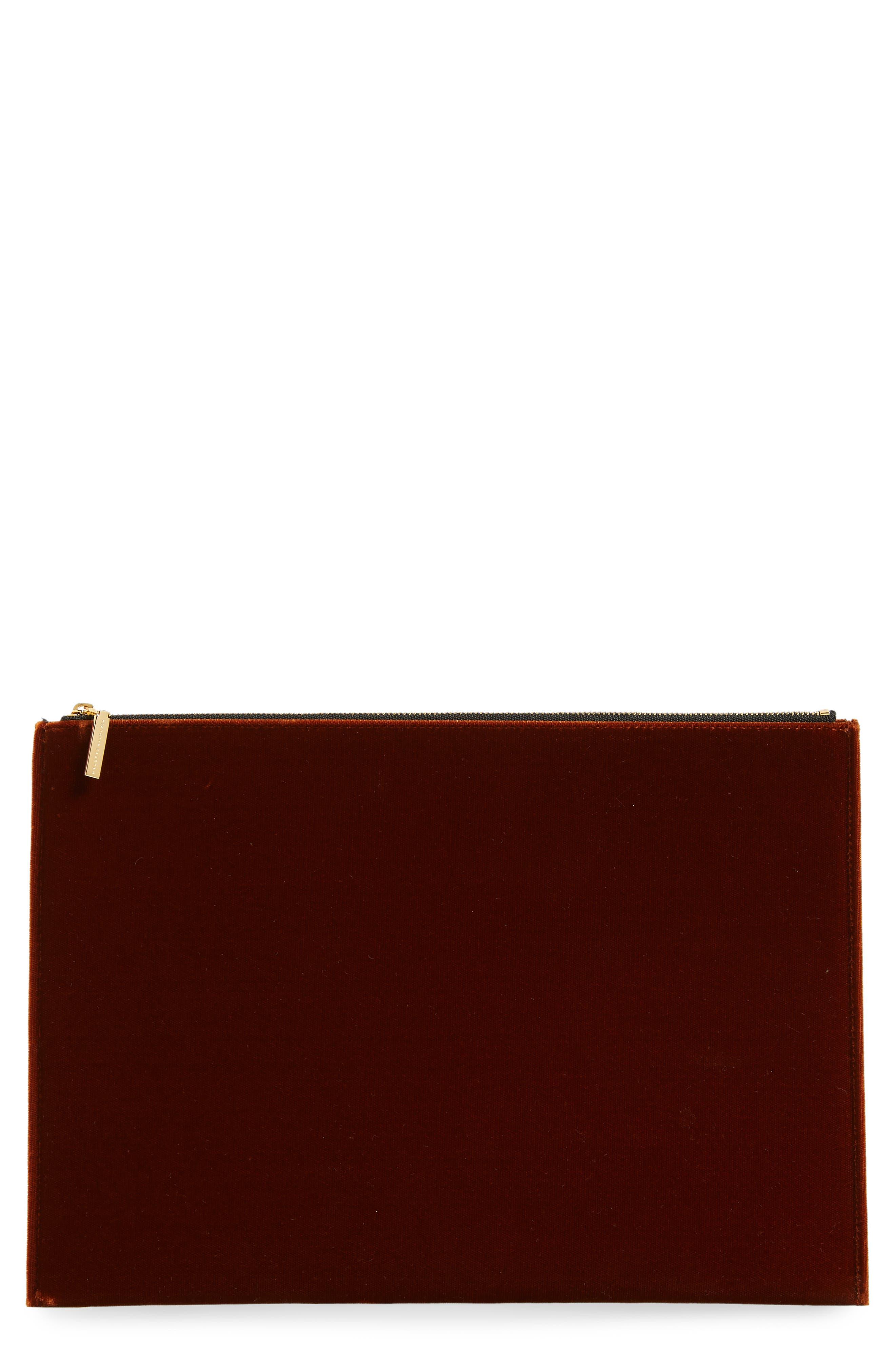 VICTORIA BECKHAM, Large Zip Pouch, Main thumbnail 1, color, 200