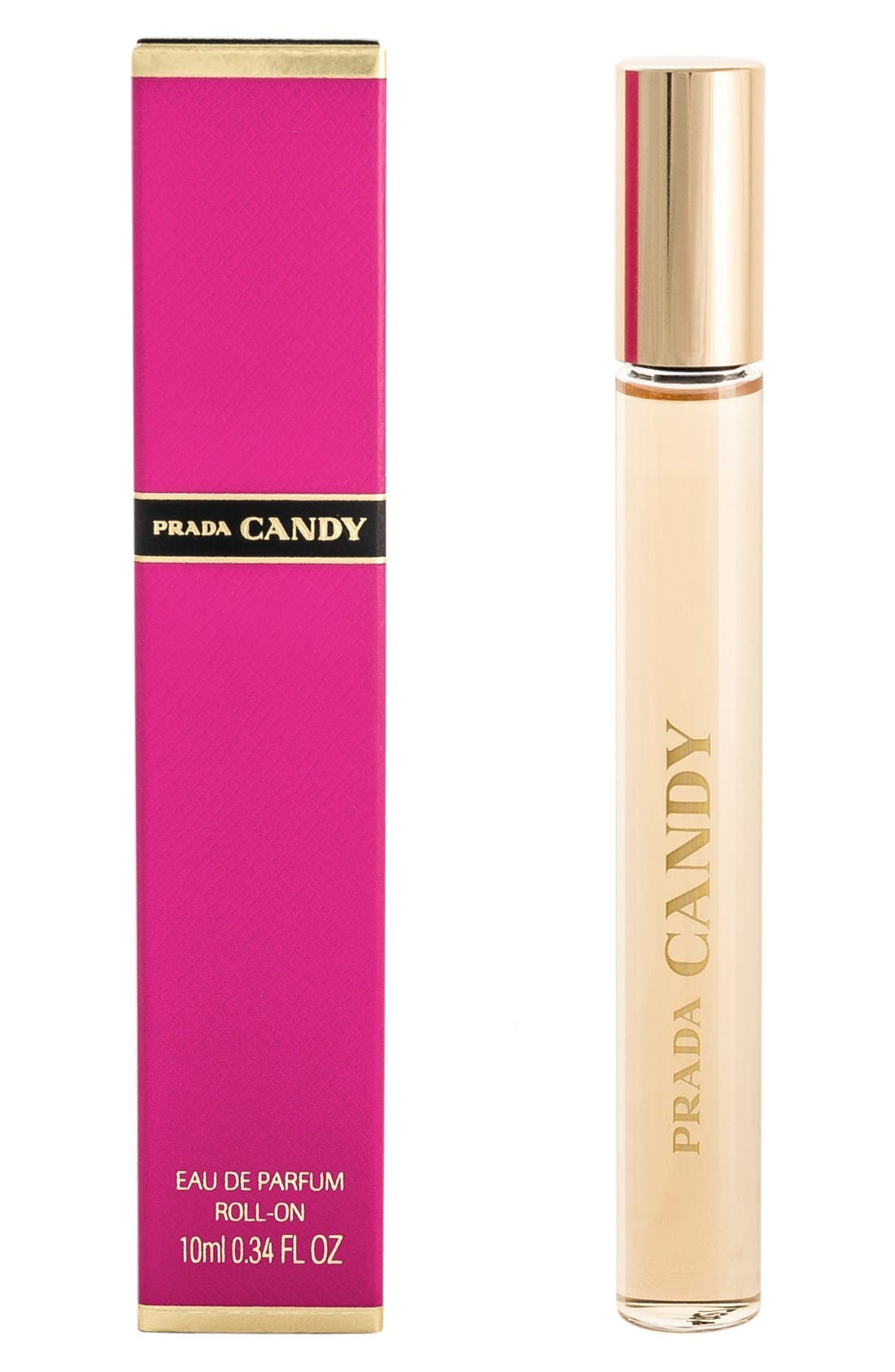 PRADA, Candy Eau de Parfum Roll-On, Alternate thumbnail 2, color, NO COLOR