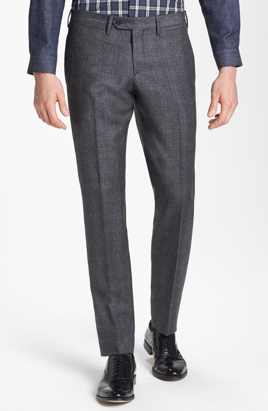 NEIL BARRETT, Windowpane Plaid Wool Suit, Alternate thumbnail 5, color, 020