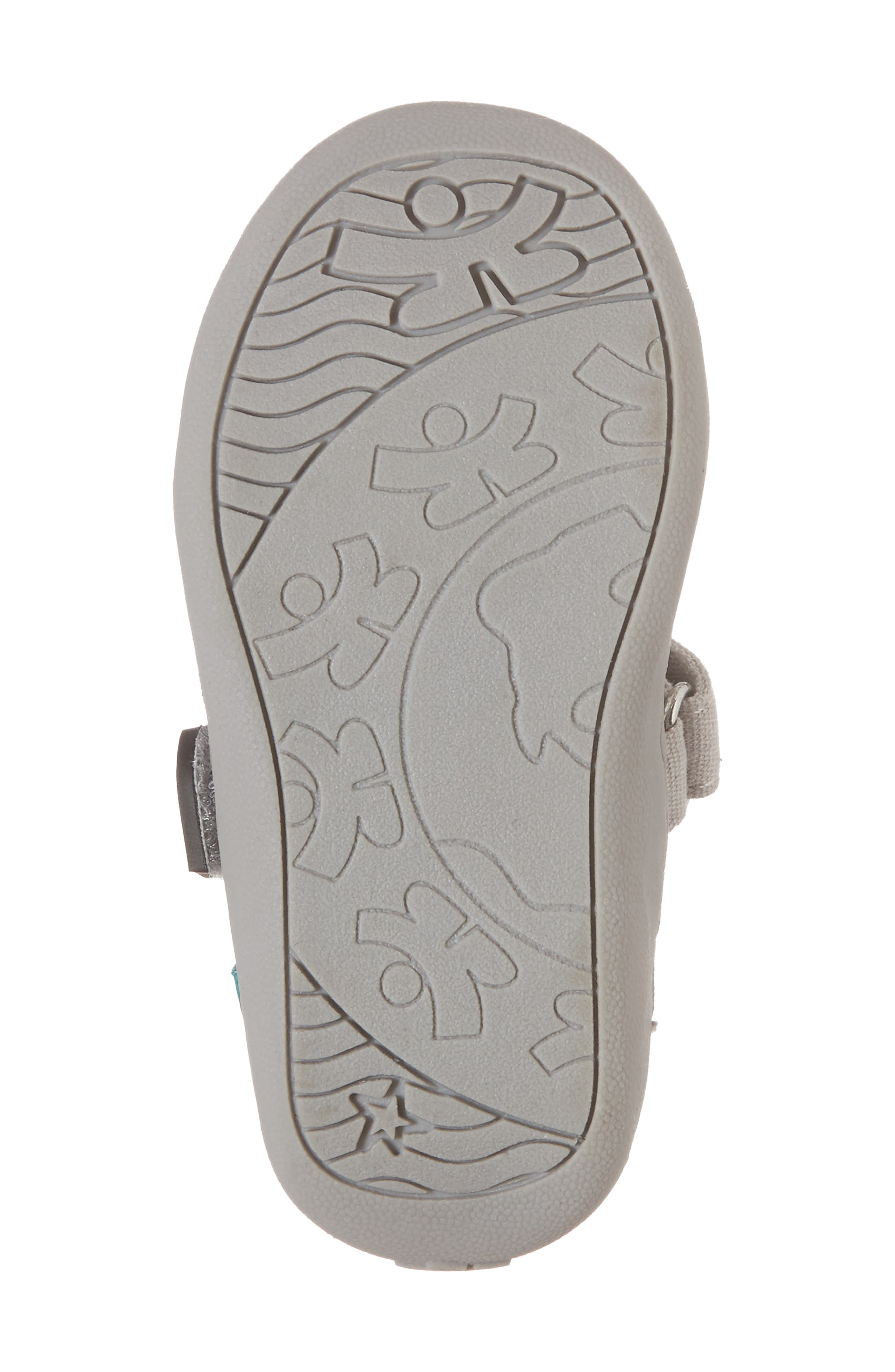 CHOOZE, Steady Shimmer Mary Jane Sneaker, Alternate thumbnail 6, color, GLOW PLATINUM