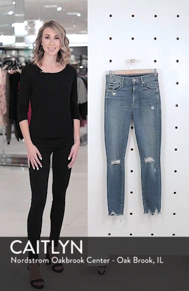 The Looker High Waist Fray Ankle Skinny Jeans, sales video thumbnail