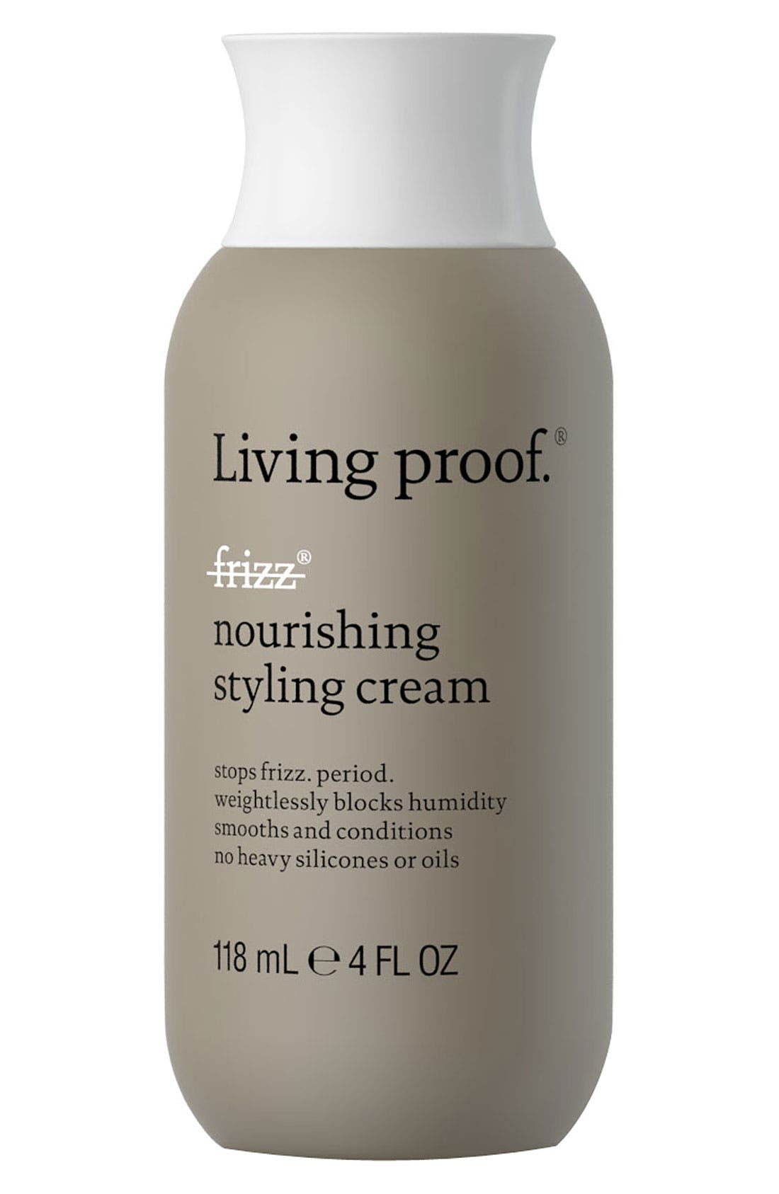 LIVING PROOF<SUP>®</SUP>, No Frizz Nourishing Styling Cream, Alternate thumbnail 4, color, NO COLOR