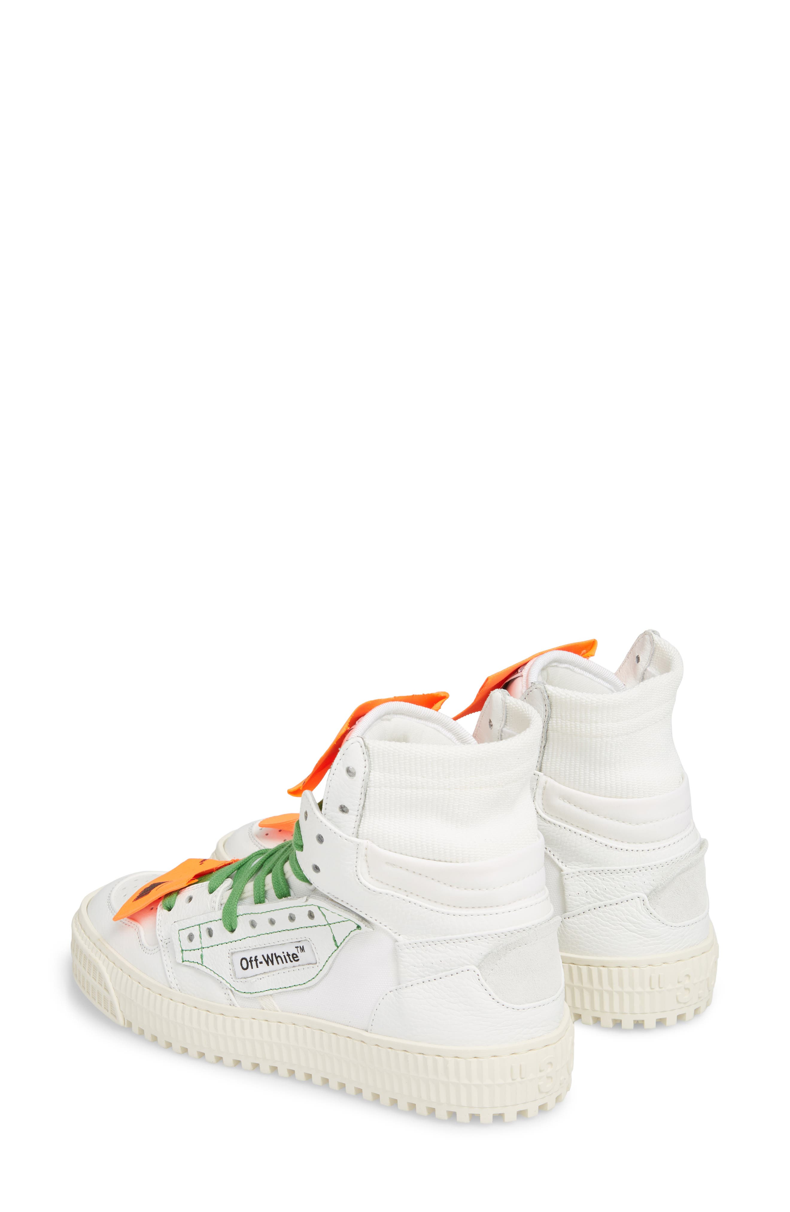OFF-WHITE, Low 3.0 Sneaker, Alternate thumbnail 3, color, WHITE NO COLOR