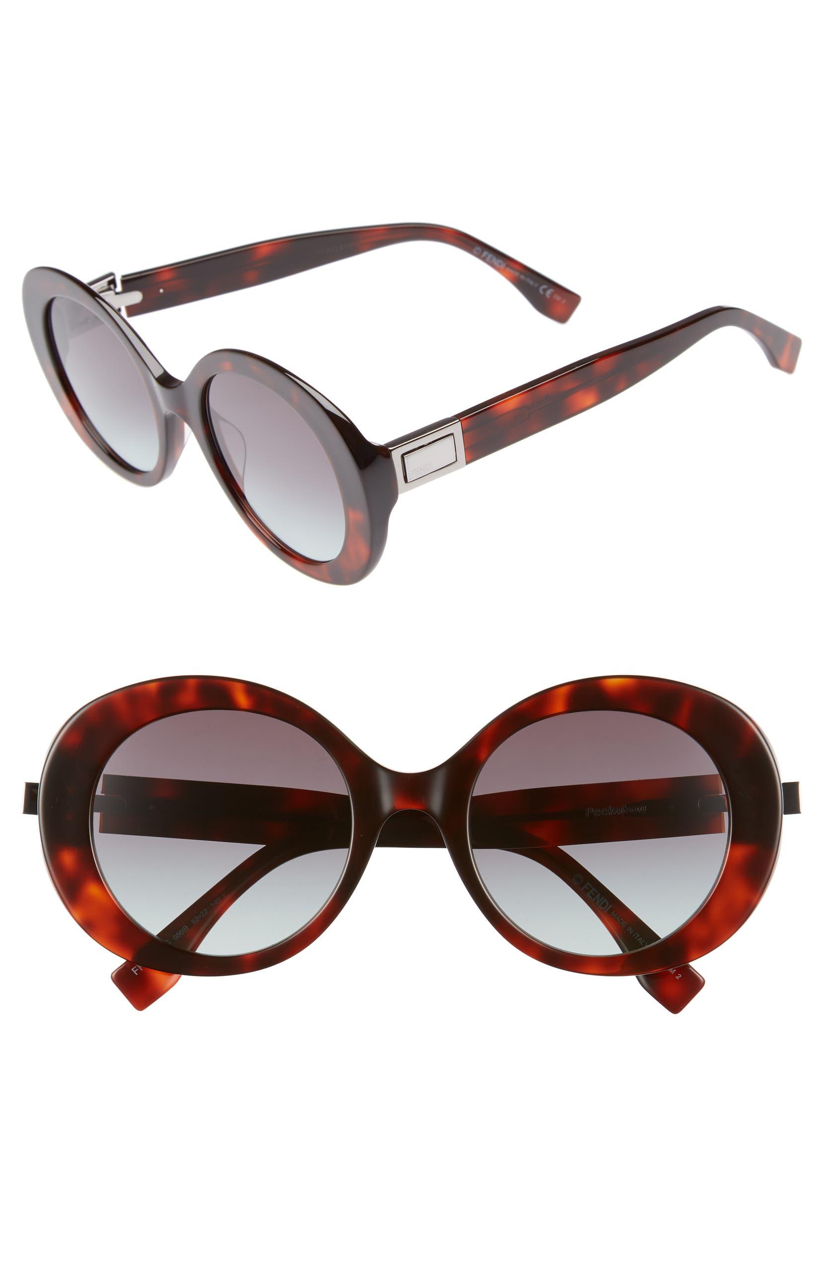 e4b98c10e71 Fendi 52mm Round Sunglasses
