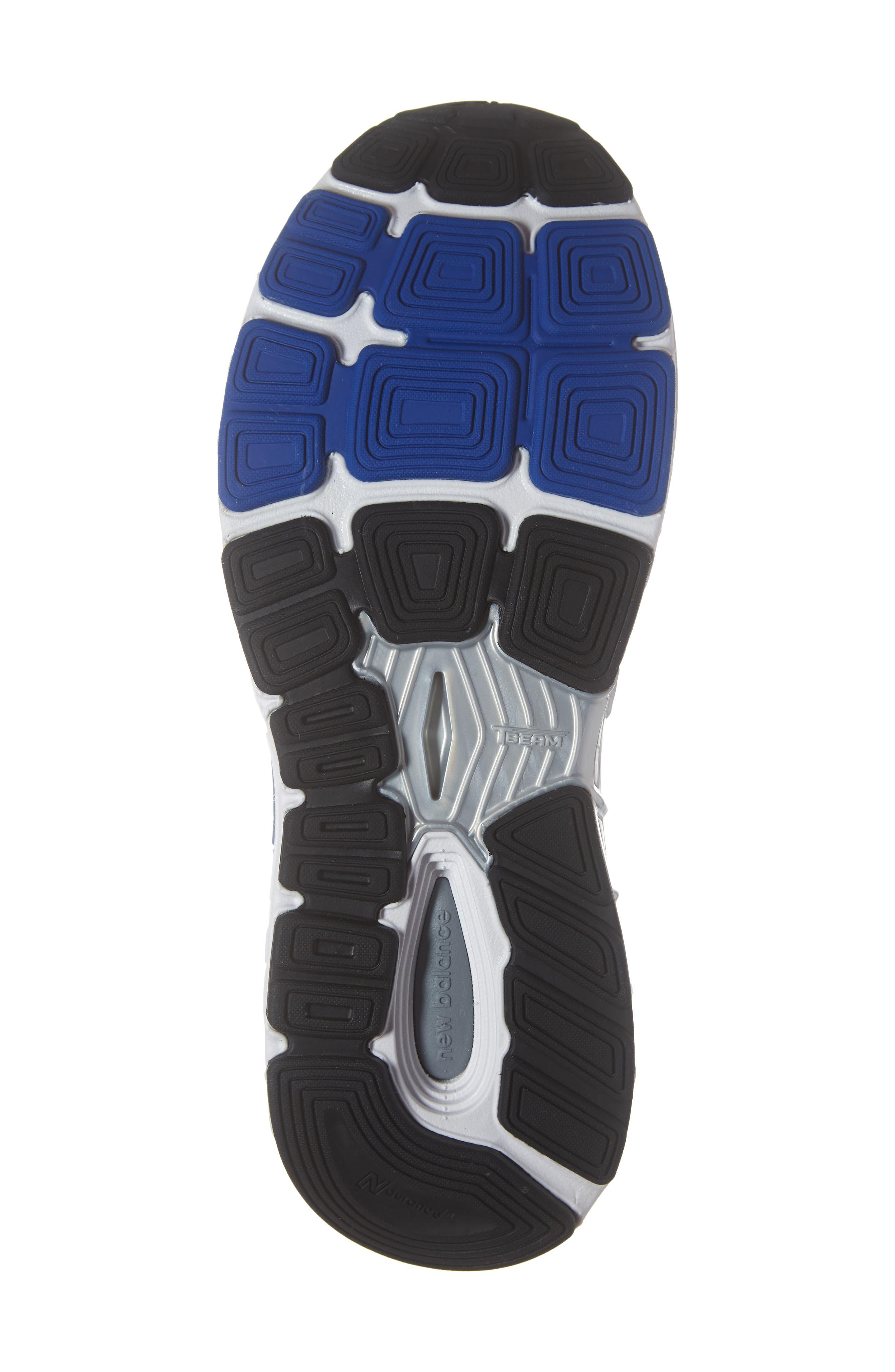 NEW BALANCE, 1340v3 Running Shoe, Alternate thumbnail 6, color, WHITE