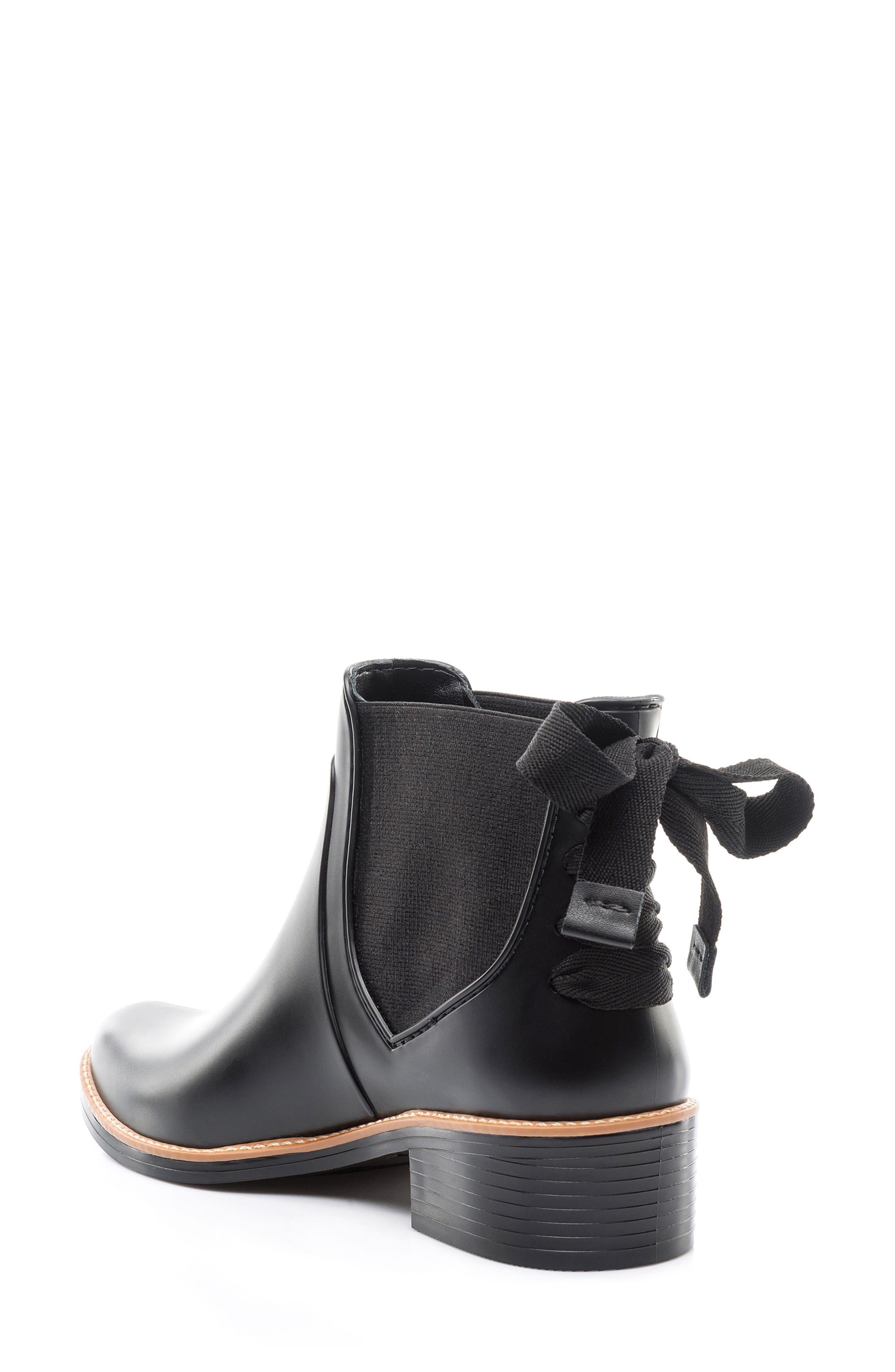 BERNARDO, Paxton Waterproof Rain Boot, Alternate thumbnail 2, color, BLACK