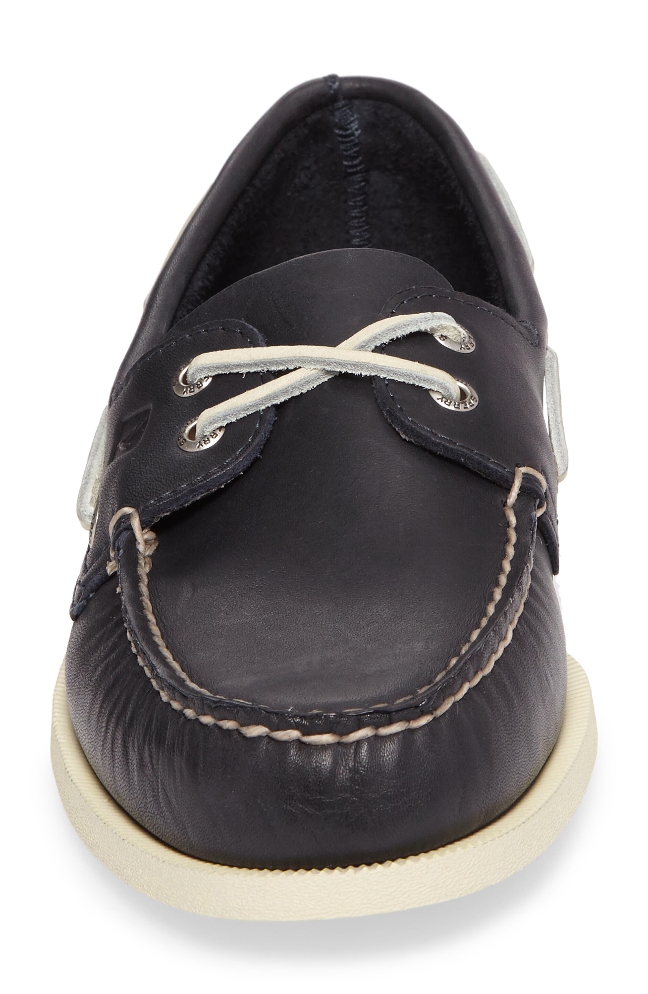 SPERRY, Authentic Original Boat Shoe, Alternate thumbnail 4, color, NAVY