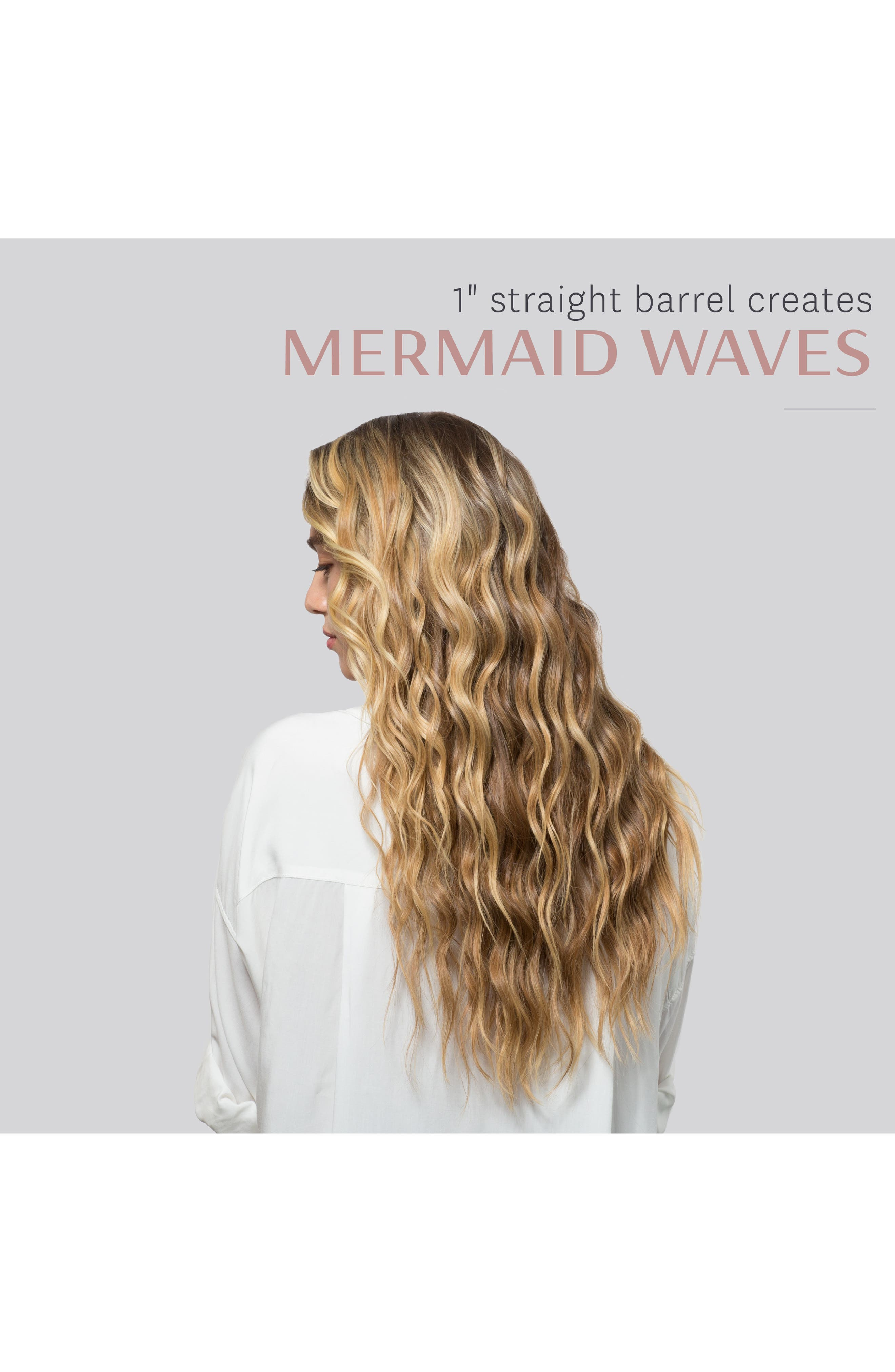 T3, Undone Waves 1-Inch Interchangeable Styling Wand, Alternate thumbnail 6, color, NO COLOR