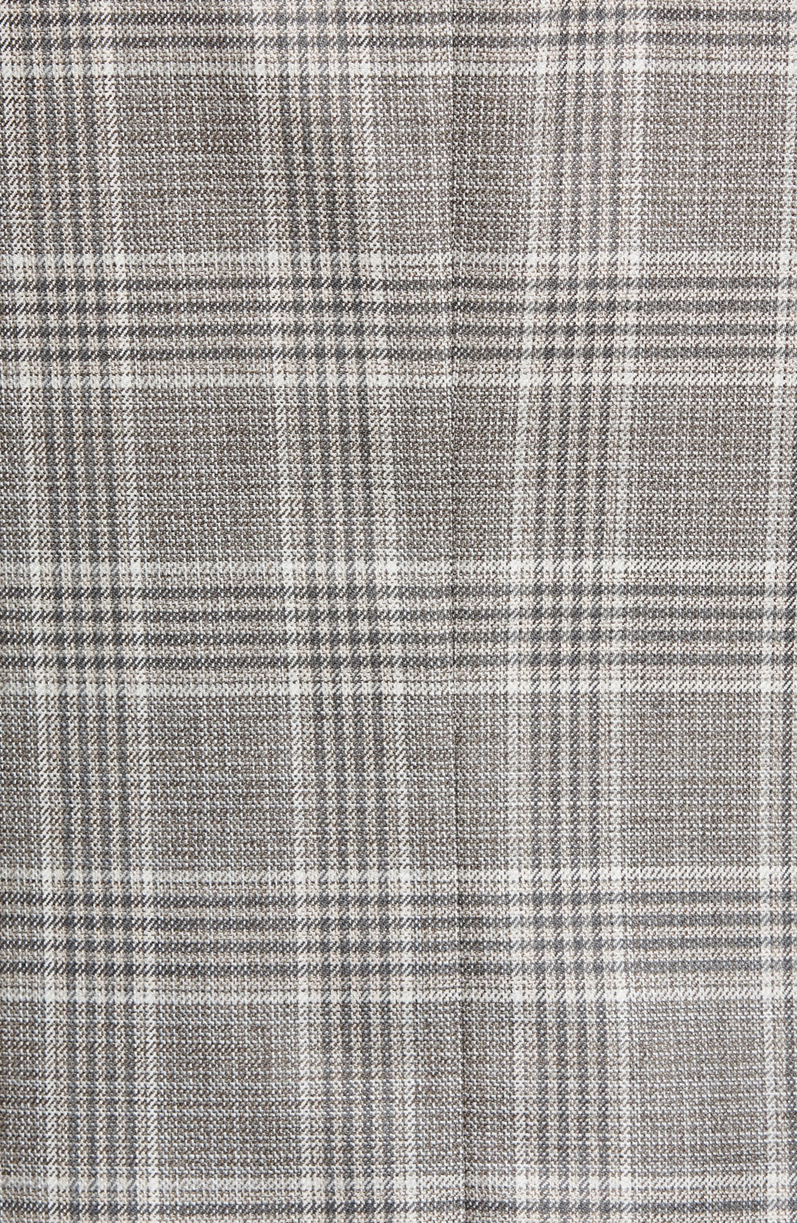 PETER MILLAR, Hyperlight Classic Fit Plaid Wool Sport Coat, Alternate thumbnail 6, color, GREY