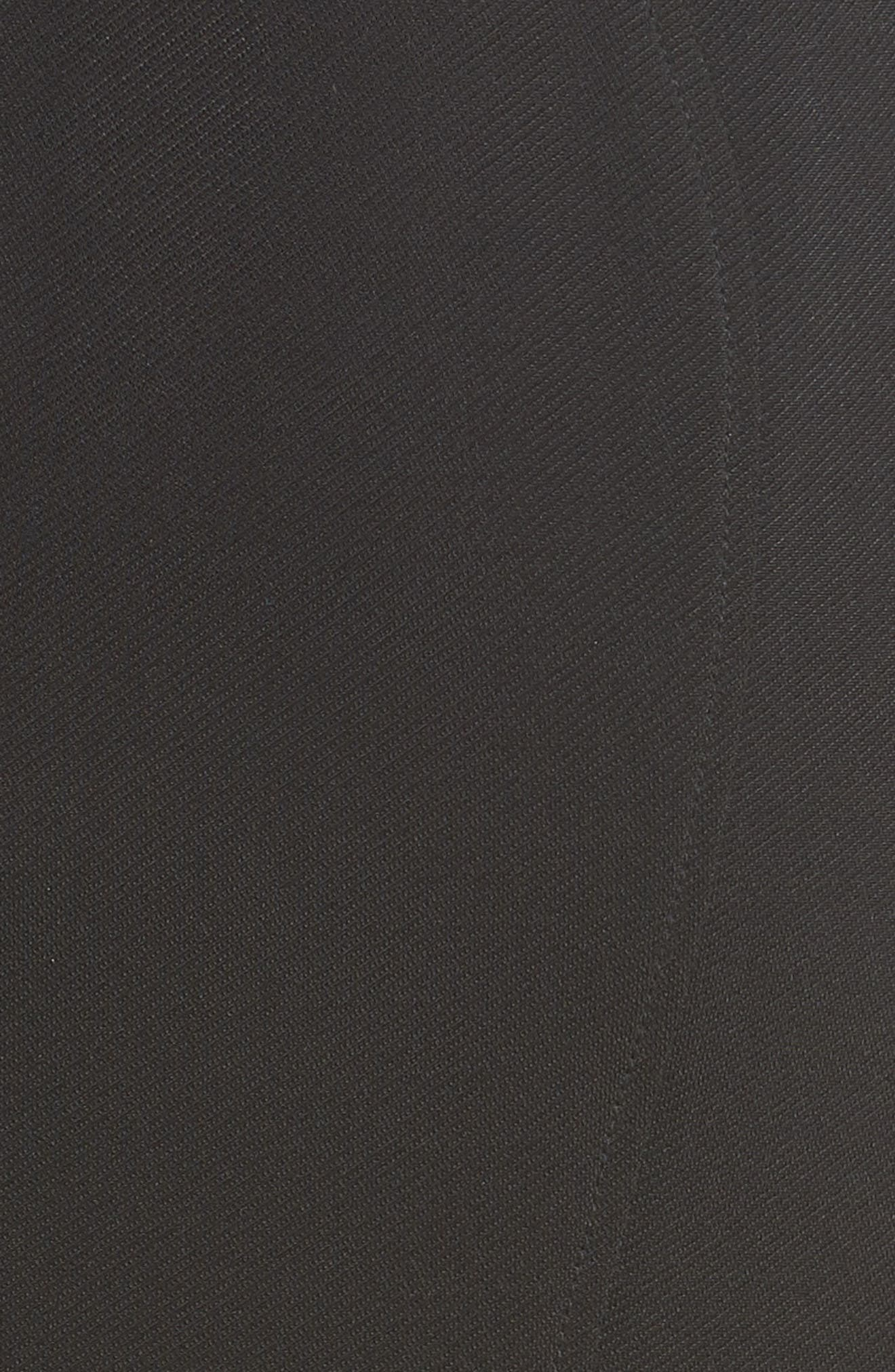 ZAC ZAC POSEN, Sirena Body-Con Dress, Alternate thumbnail 6, color, BLACK