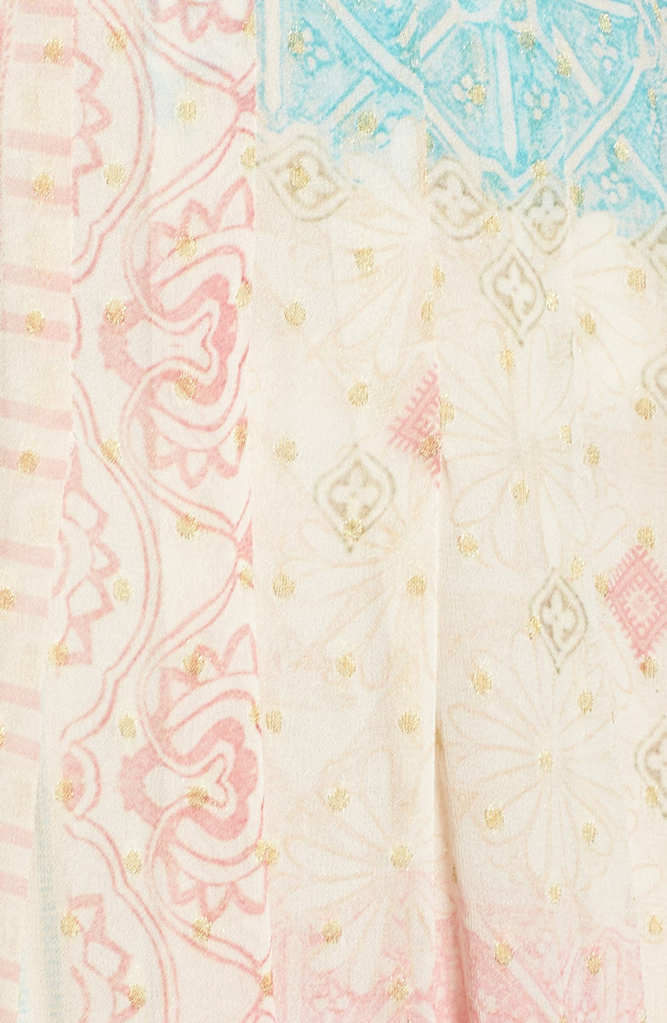 HEMANT & NANDITA, Cover-Up Maxi Dress, Alternate thumbnail 5, color, PASTEL