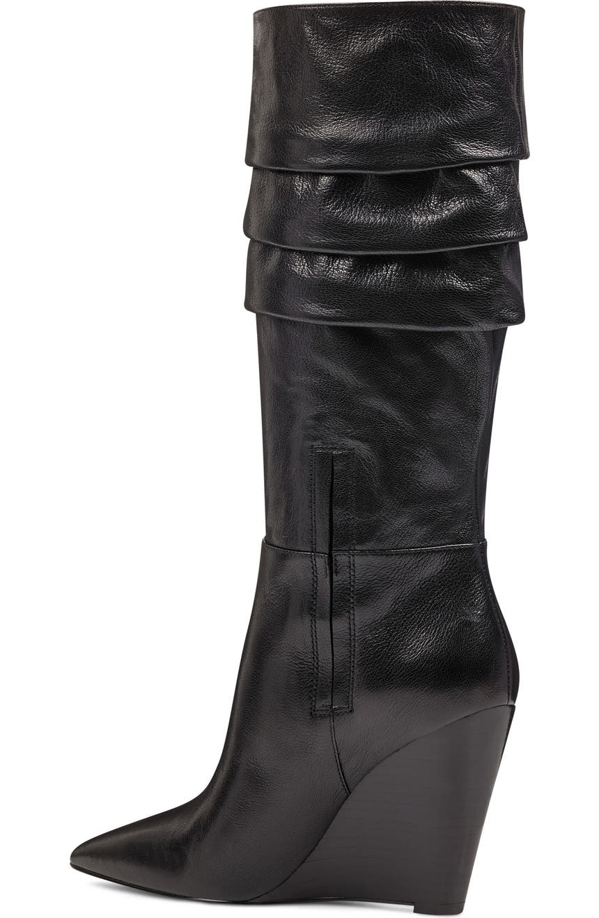 a4ccca06b09 Nine West Vernese Tiered Knee High Wedge Boot (Women)