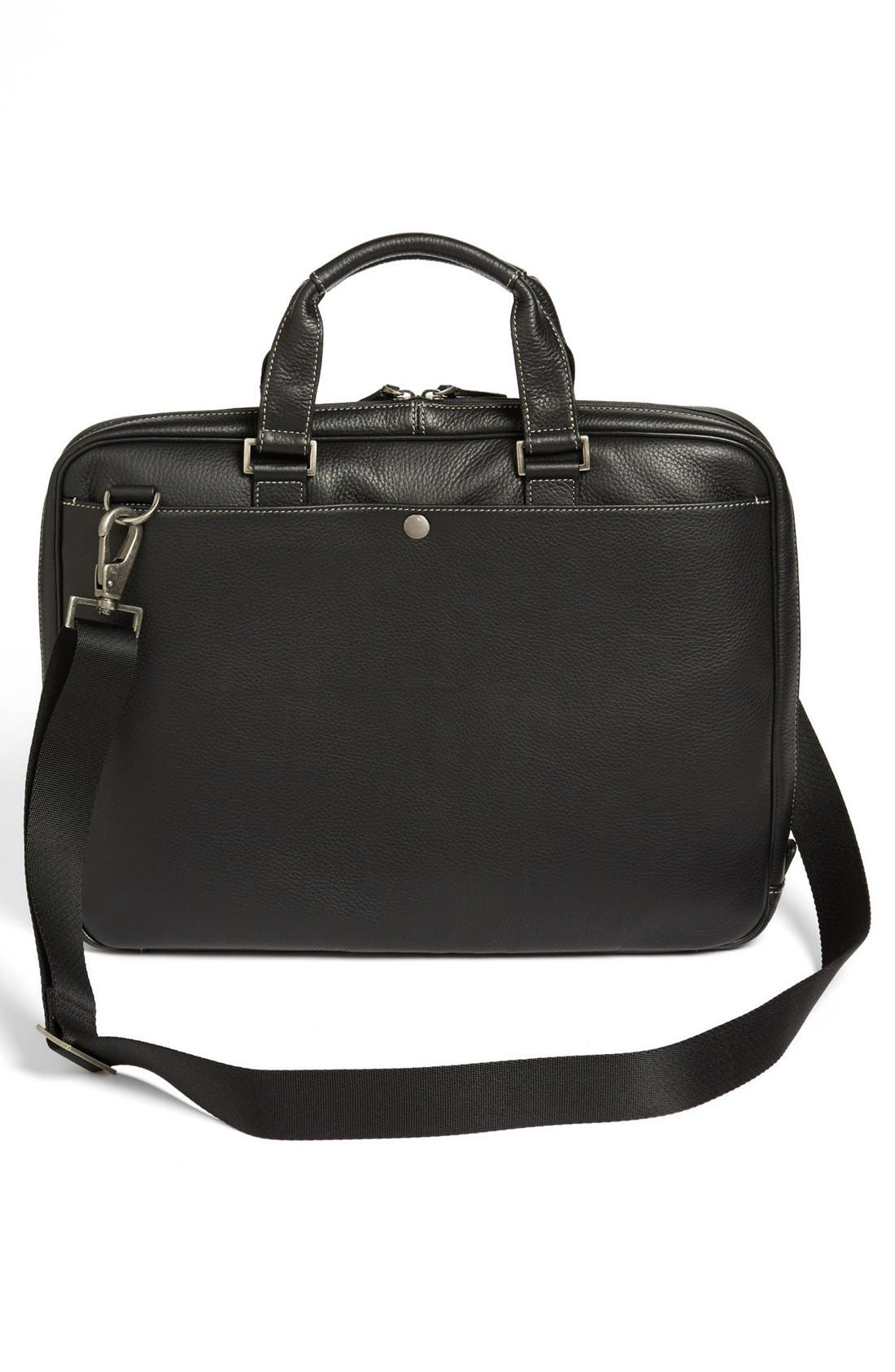 BOCONI, 'Tyler' Briefcase, Alternate thumbnail 2, color, BLACK