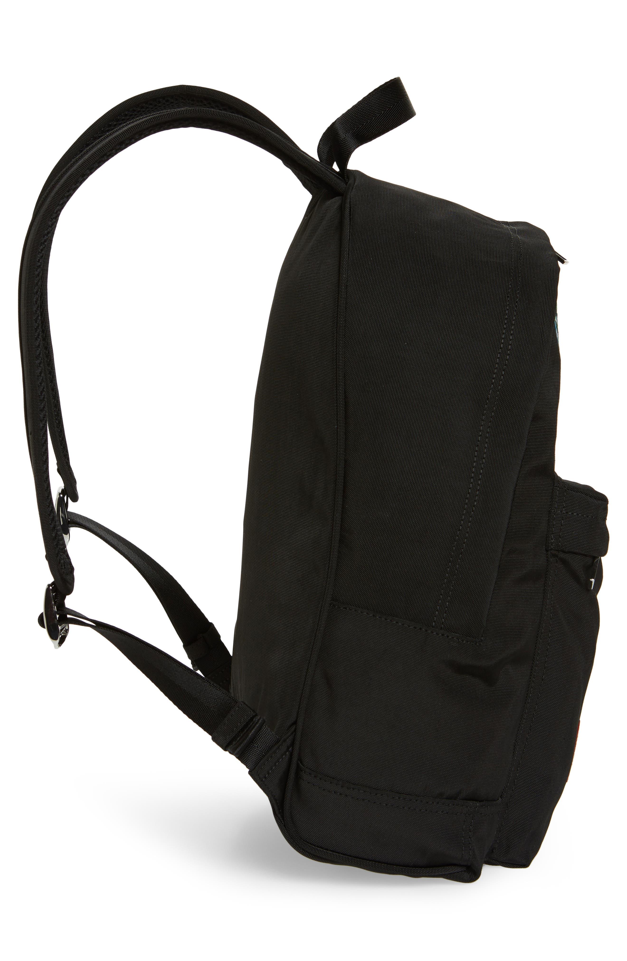 KENZO, Tiger Backpack, Alternate thumbnail 5, color, BLACK