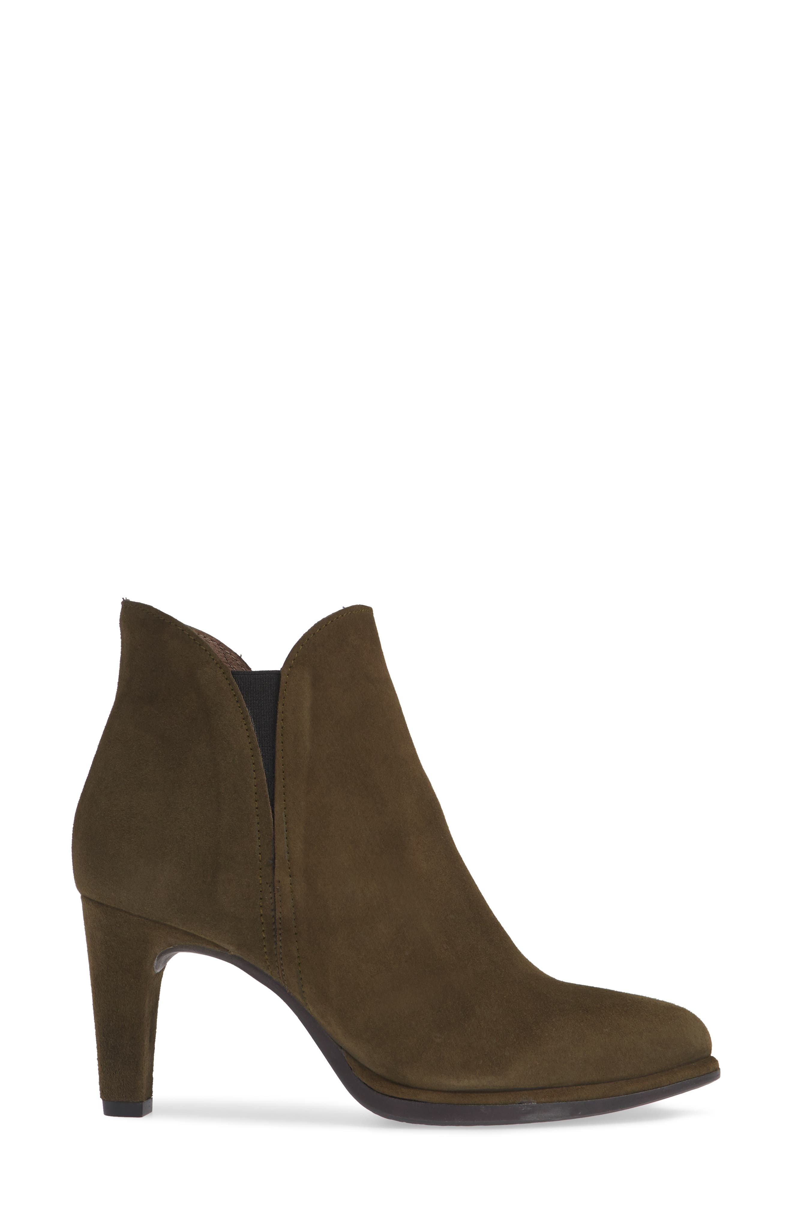 WONDERS, Chelsea Boot, Alternate thumbnail 3, color, MILITARY GREEN SUEDE