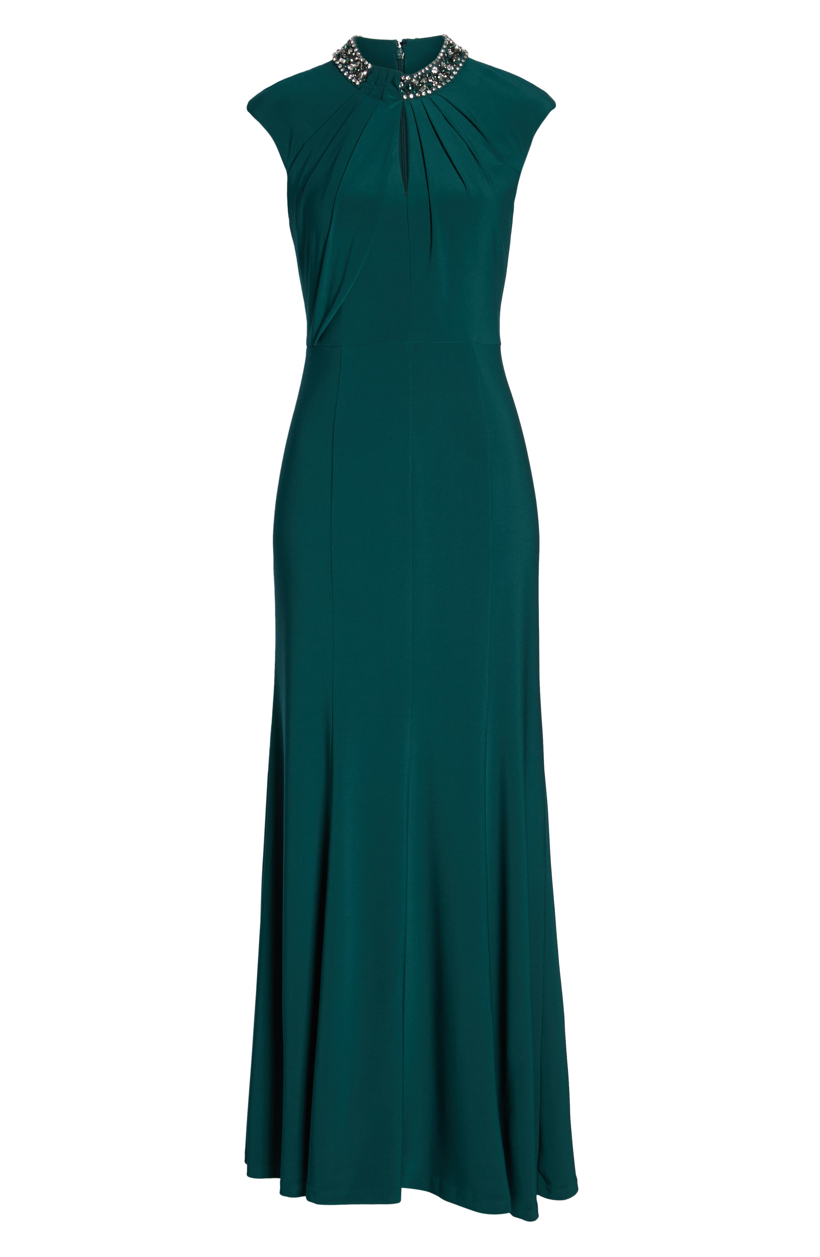 VINCE CAMUTO, Cap Sleeve Gown, Alternate thumbnail 7, color, 301