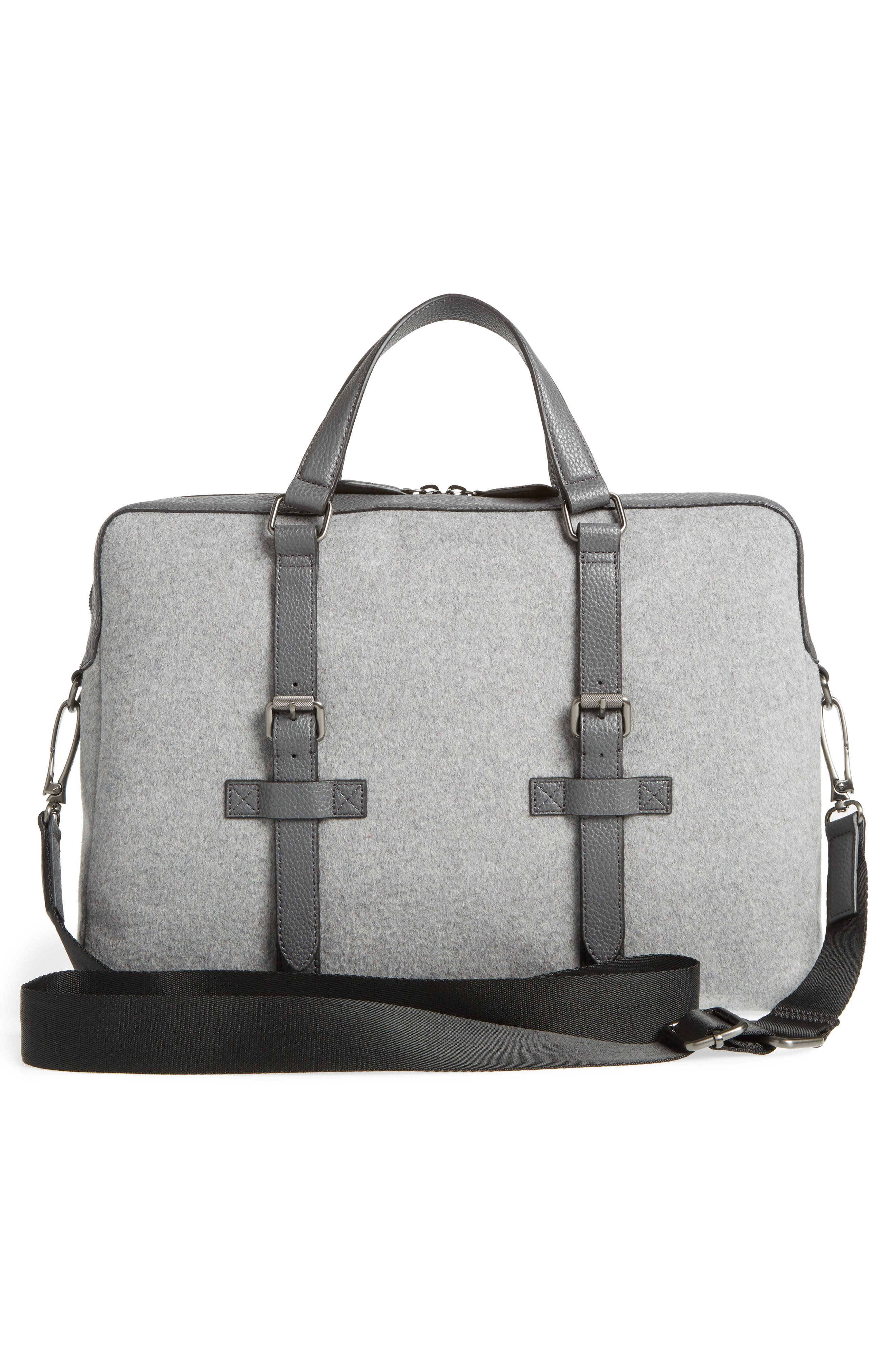 TED BAKER LONDON, Cabble Briefcase, Alternate thumbnail 3, color, 030
