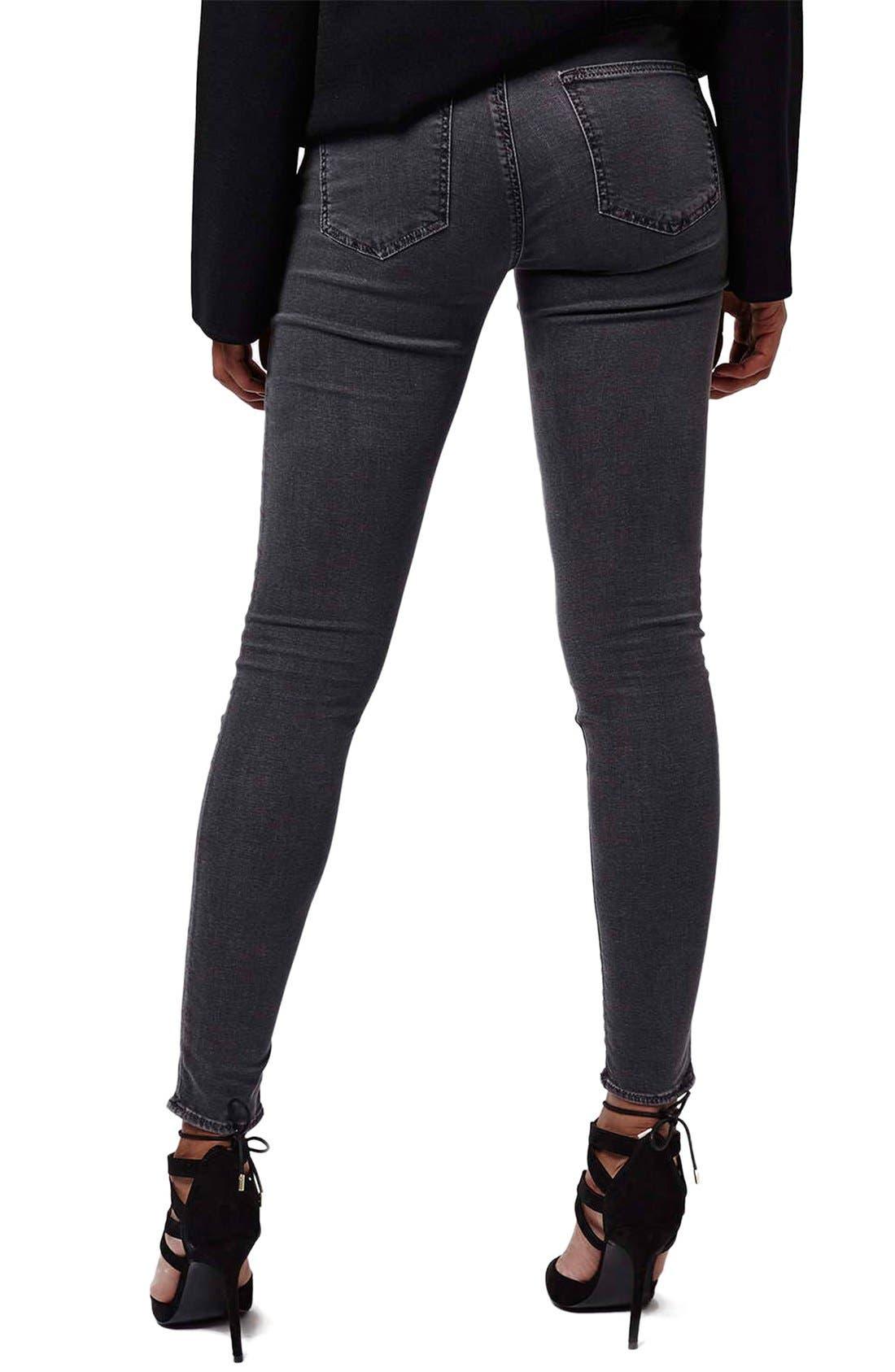 TOPSHOP, Moto 'Jamie' Skinny Jeans, Alternate thumbnail 5, color, 020
