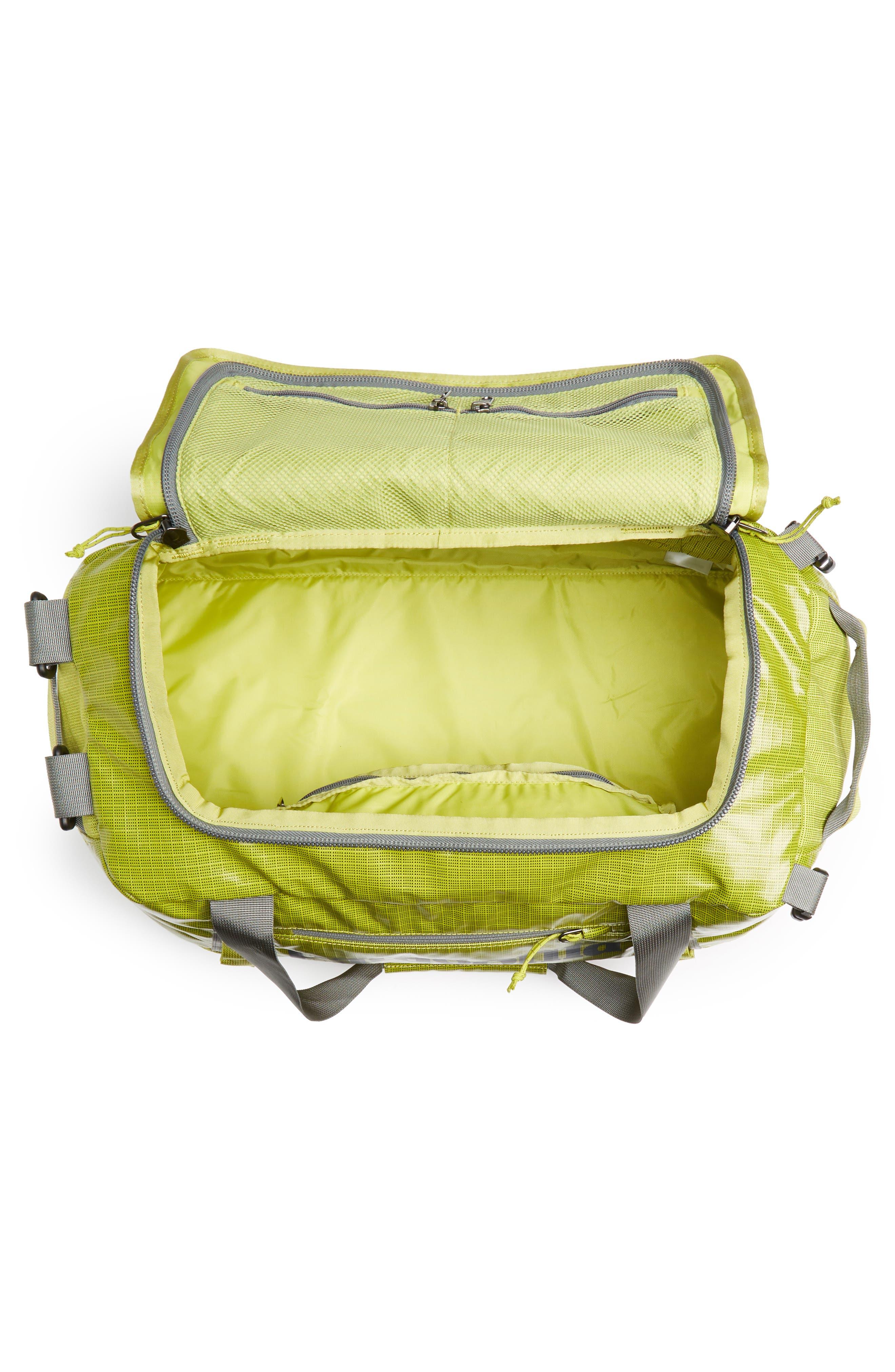 PATAGONIA, Black Hole Water Repellent 45-Liter Duffel Bag, Alternate thumbnail 6, color, FOLIOS GREEN