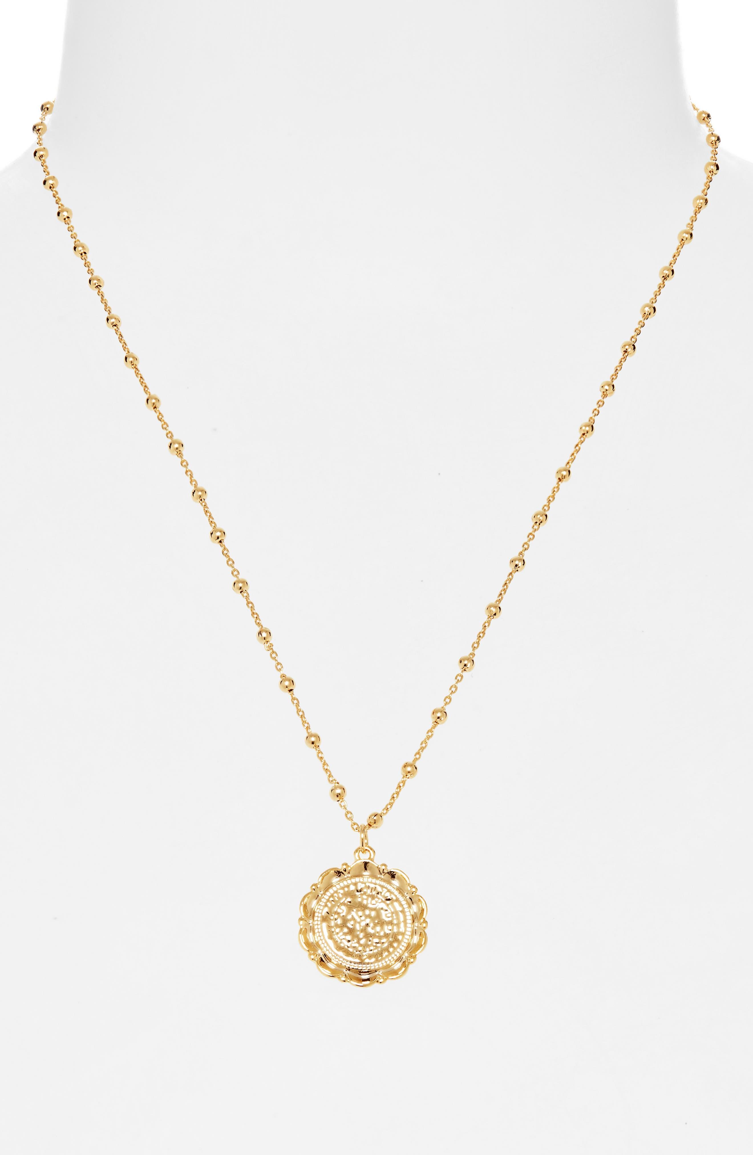 UNCOMMON JAMES BY KRISTIN CAVALLARI, Atocha Coin Necklace, Alternate thumbnail 2, color, GOLD