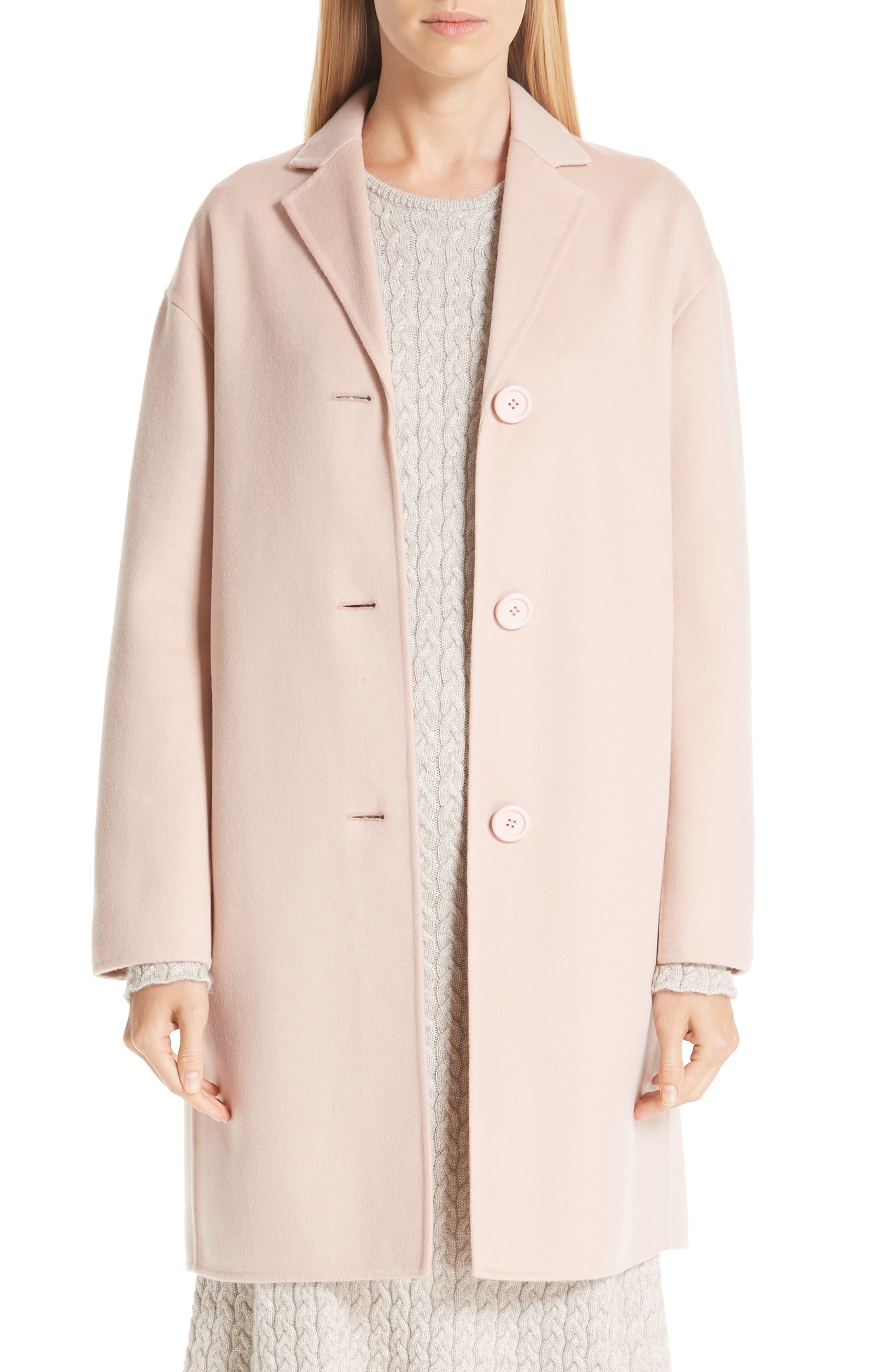 MANSUR GAVRIEL, Wool & Cashmere Coat, Main thumbnail 1, color, 650