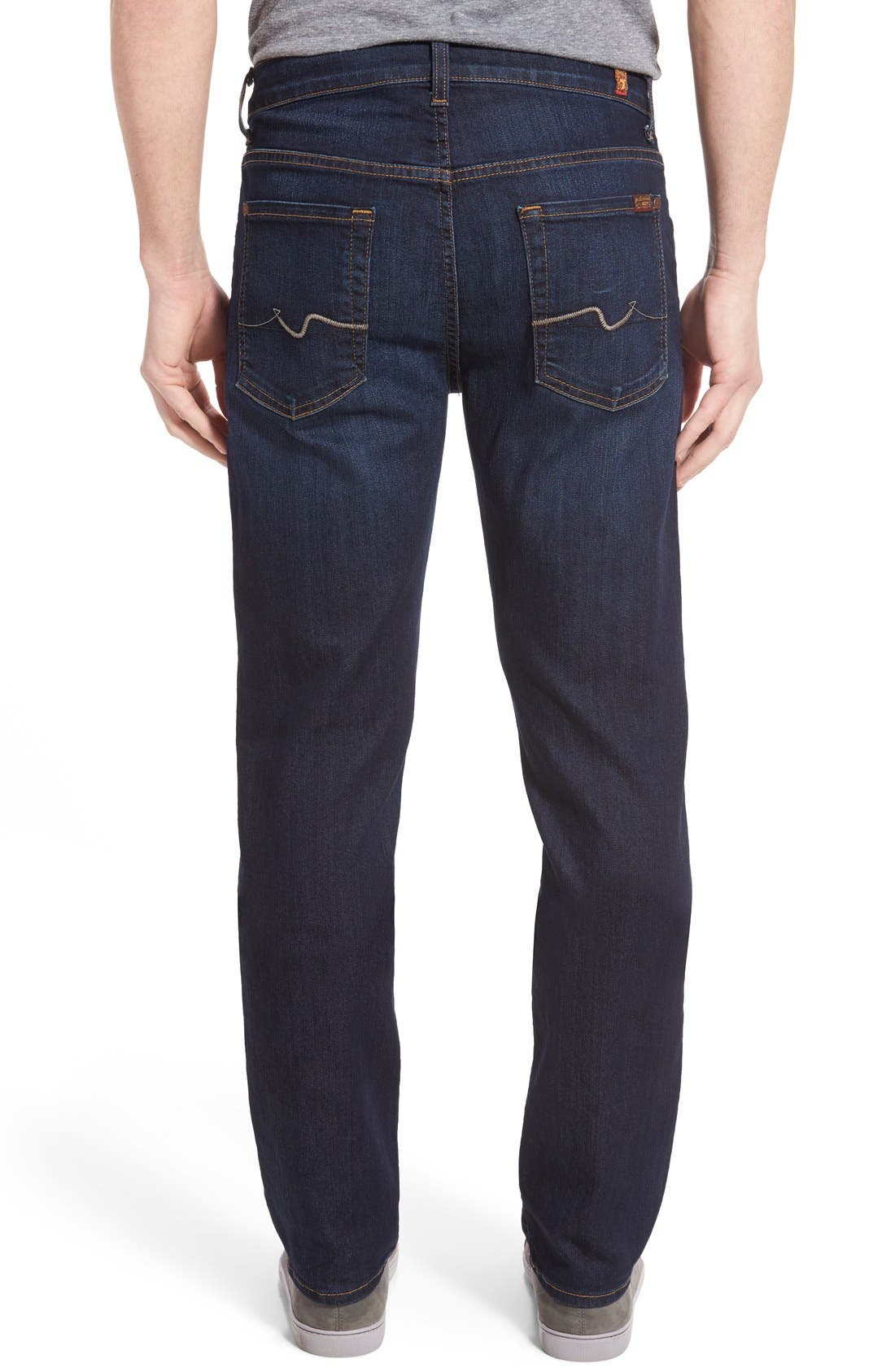 7 FOR ALL MANKIND<SUP>®</SUP>, The Straight Airweft Slim Straight Leg Jeans, Alternate thumbnail 8, color, 400