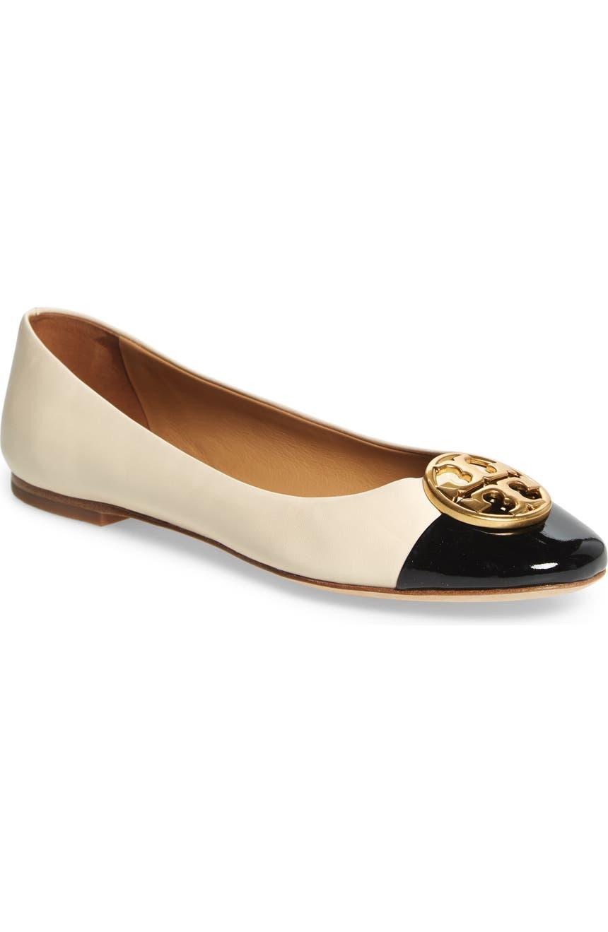 5d452eacc818 Tory Burch Chelsea Cap Toe Ballet Flat (Women)