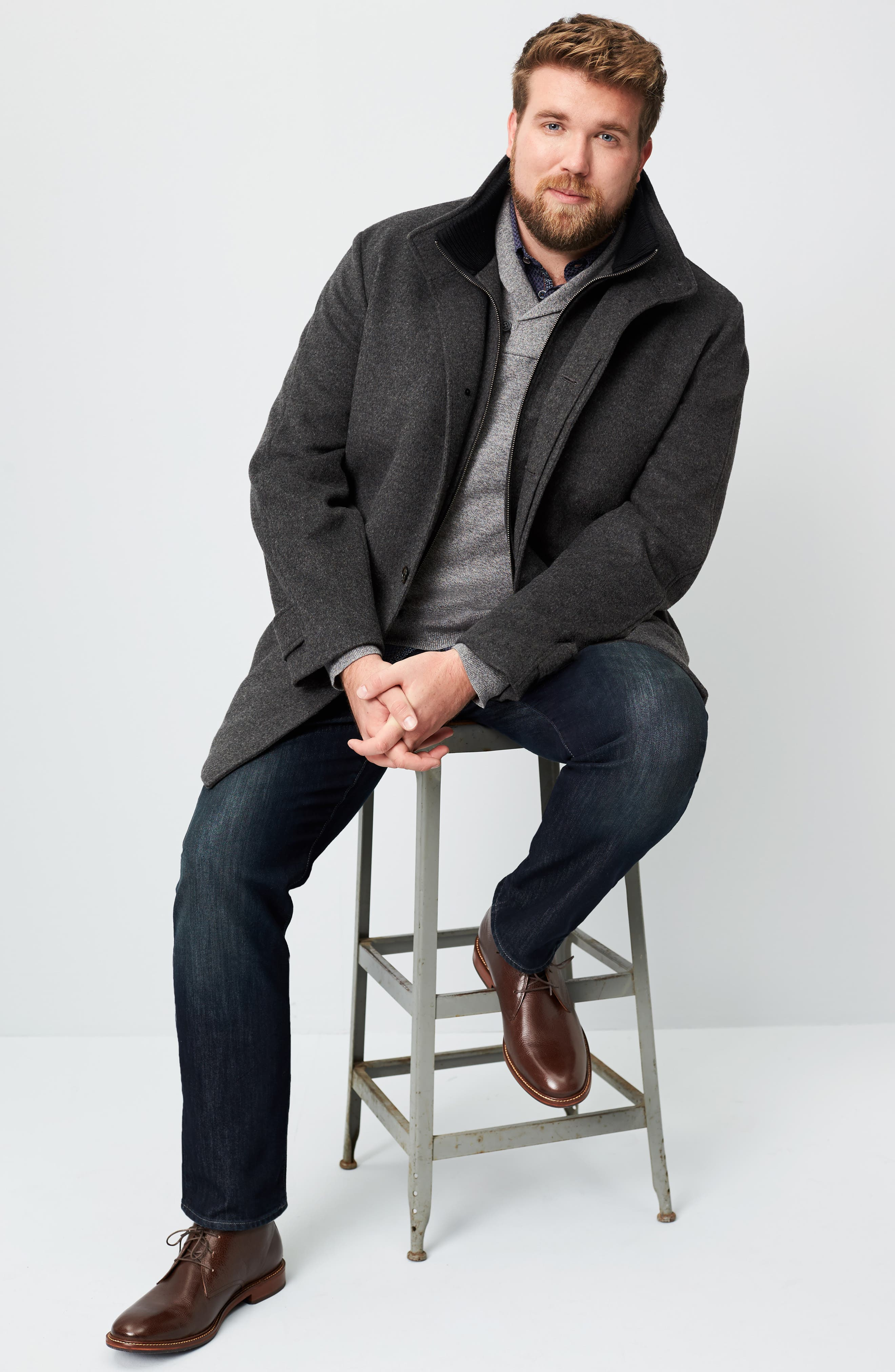 MAVI JEANS, 'Matt' Relaxed Fit Jeans, Alternate thumbnail 9, color, DEEP STANFORD COMFORT
