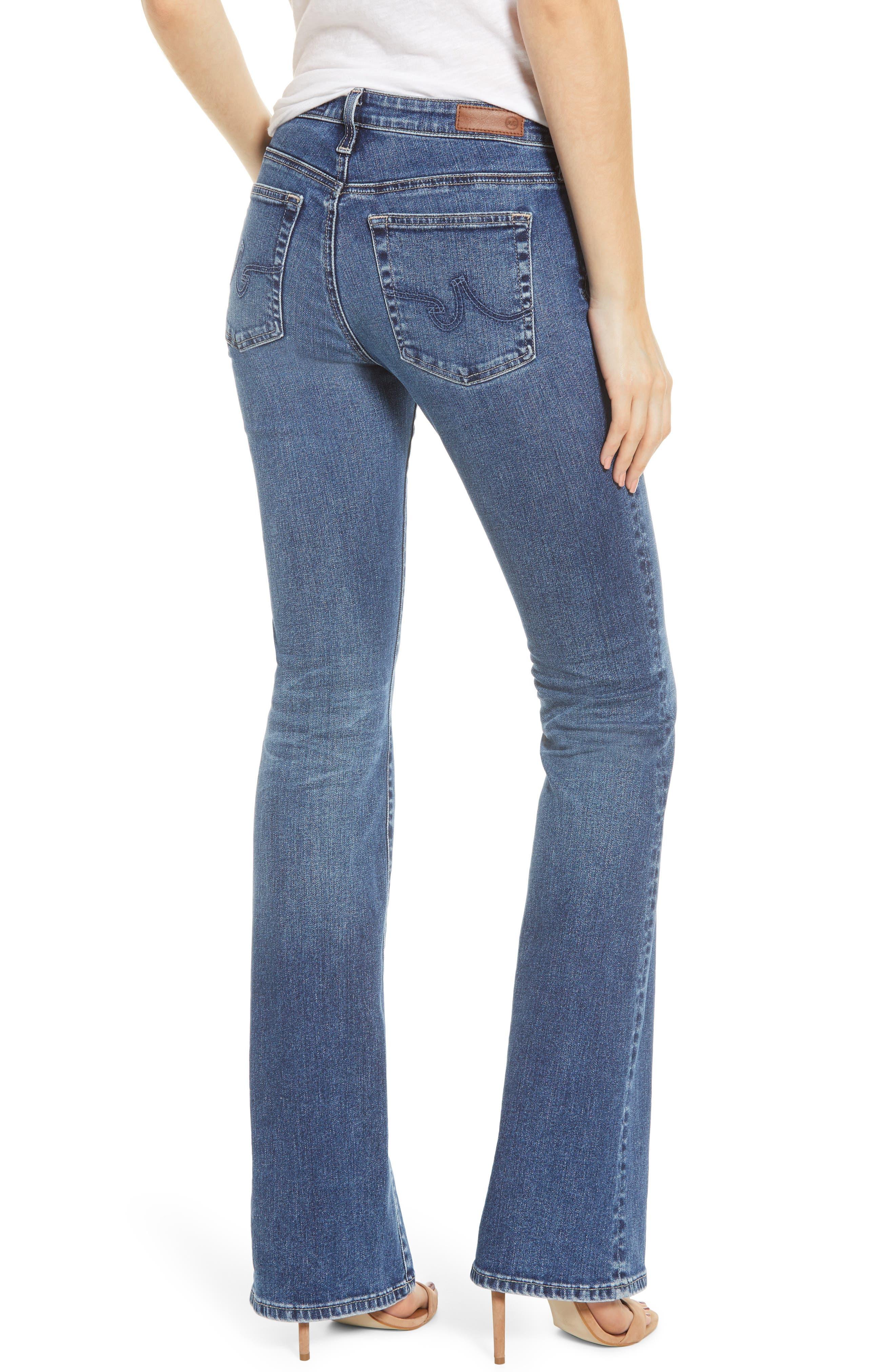 AG, Angel Flare Jeans, Alternate thumbnail 2, color, 12 YEARS FLUID