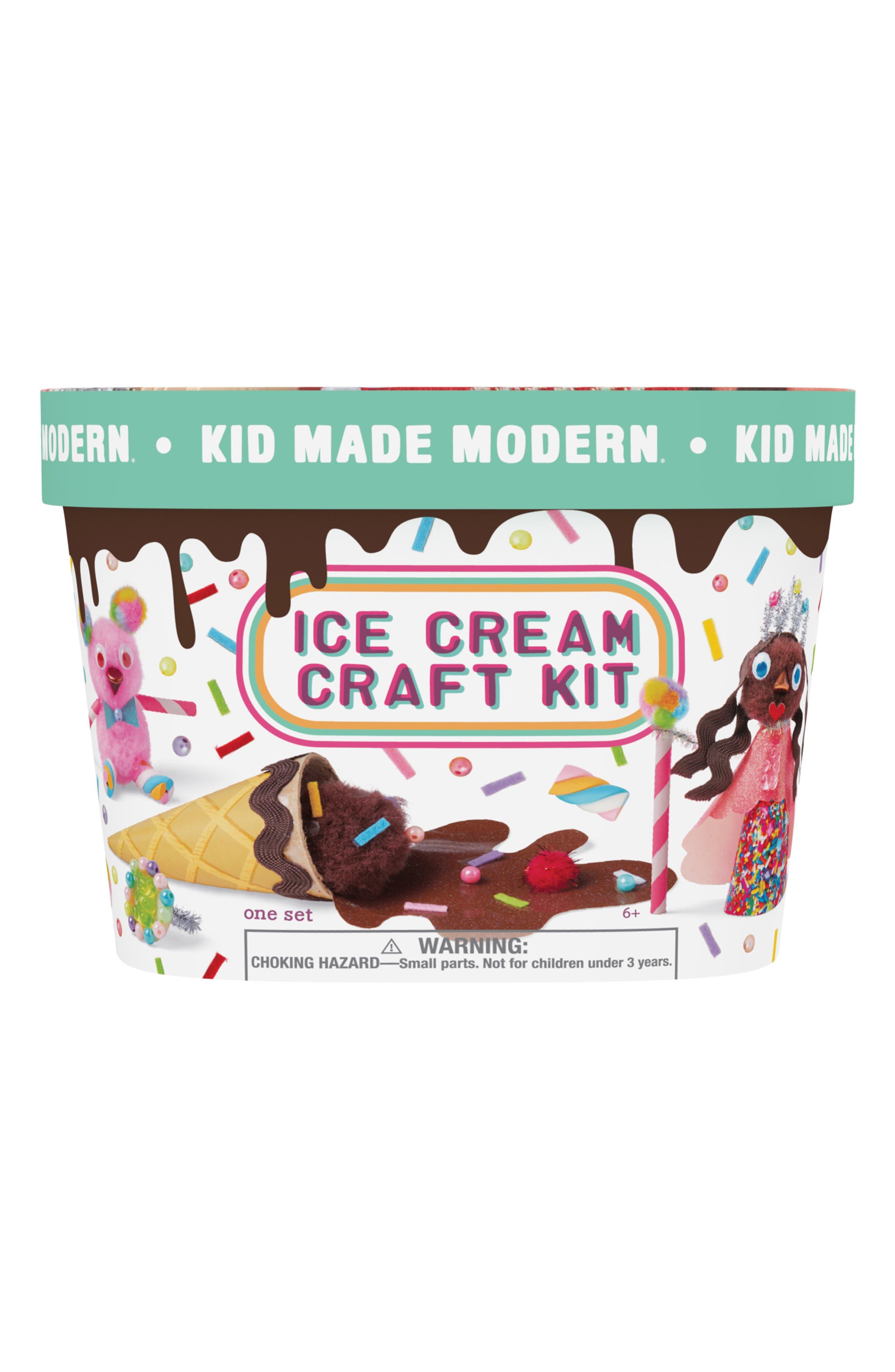 KID MADE MODERN, Ice Cream Craft Kit, Main thumbnail 1, color, MULTI