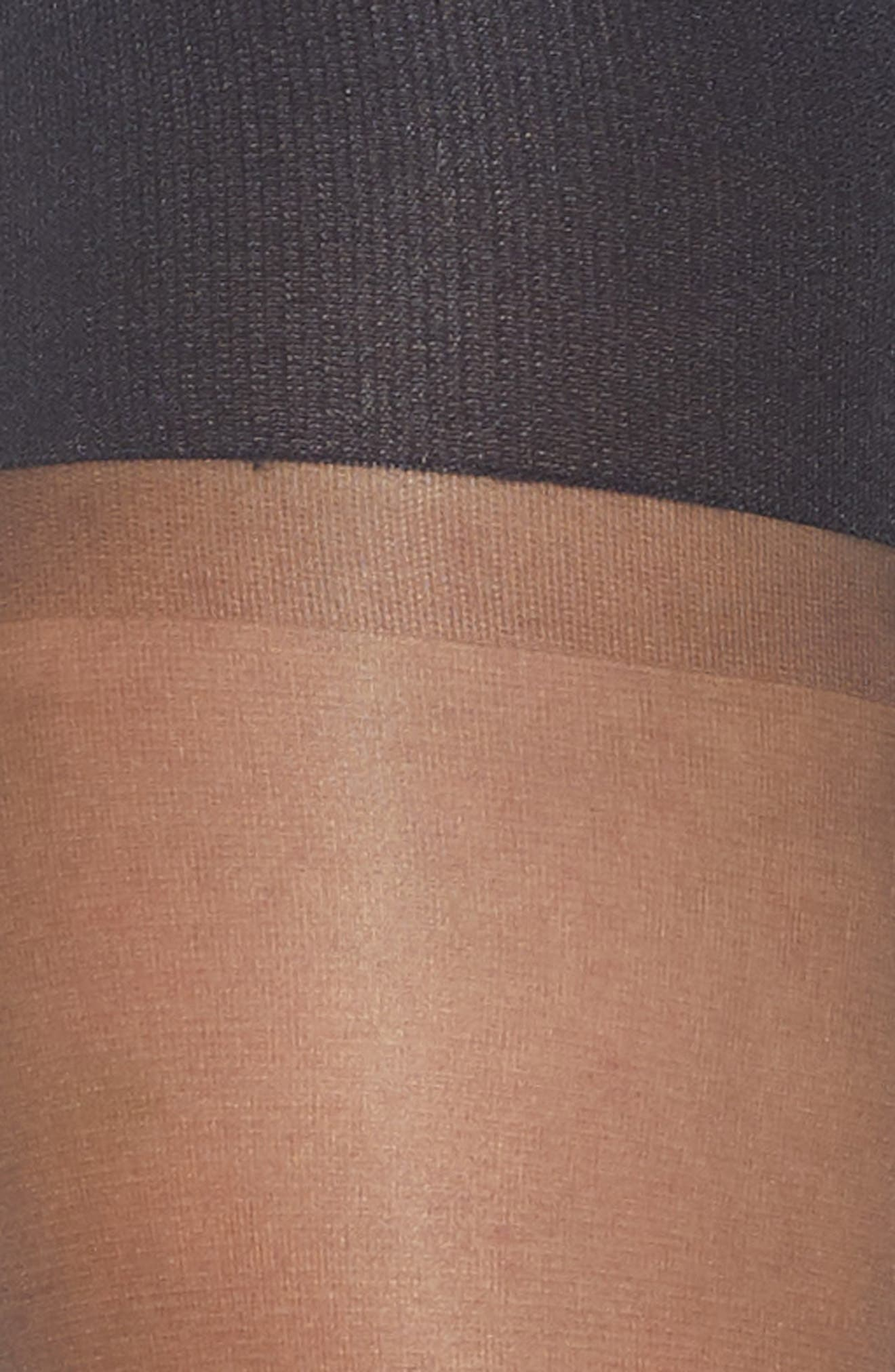 SPANX<SUP>®</SUP>, Graduated Compression Shaping Sheers, Alternate thumbnail 2, color, BLACK