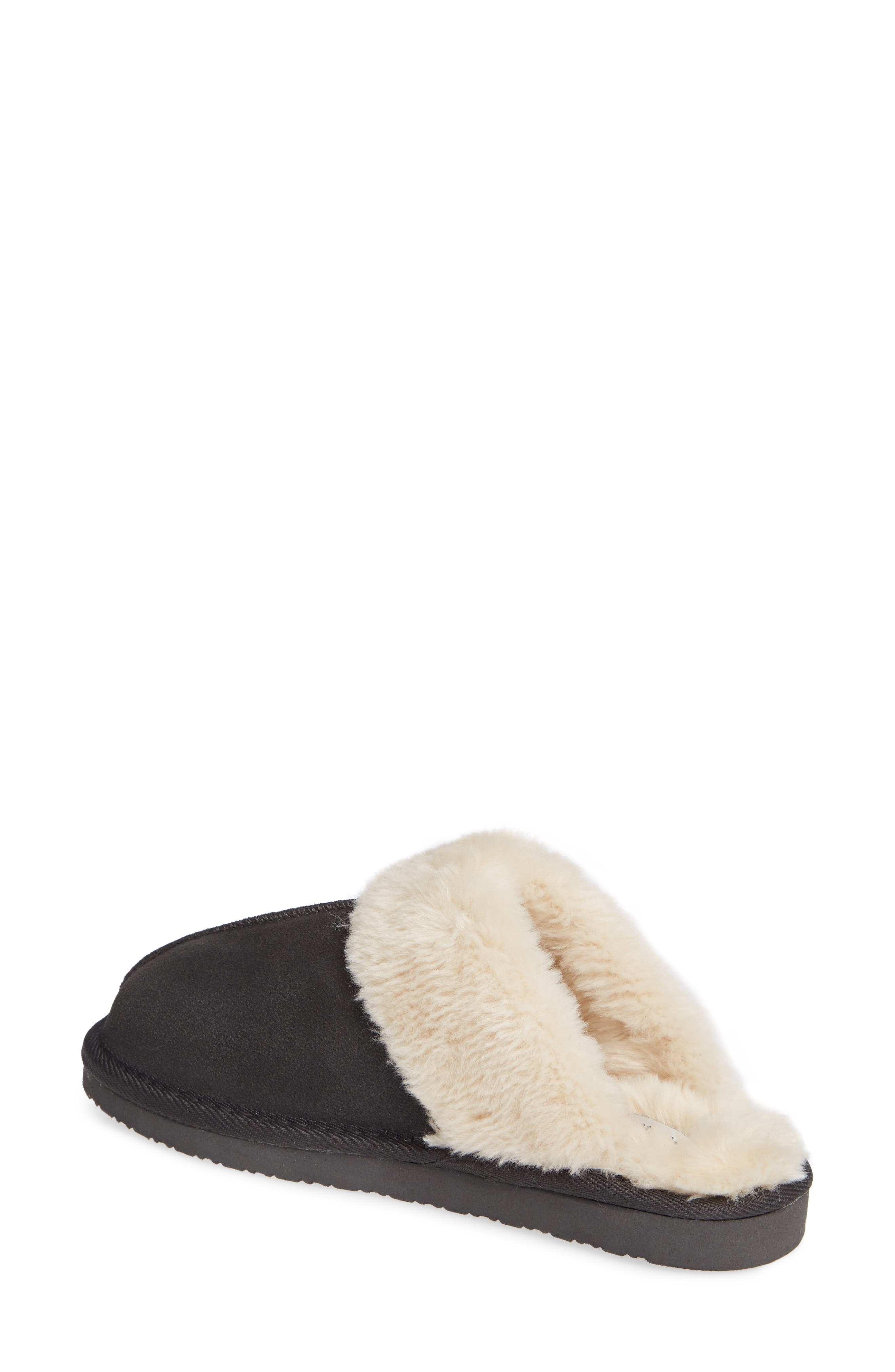 MINNETONKA, Mule Slipper, Alternate thumbnail 2, color, CHARCOAL SUEDE