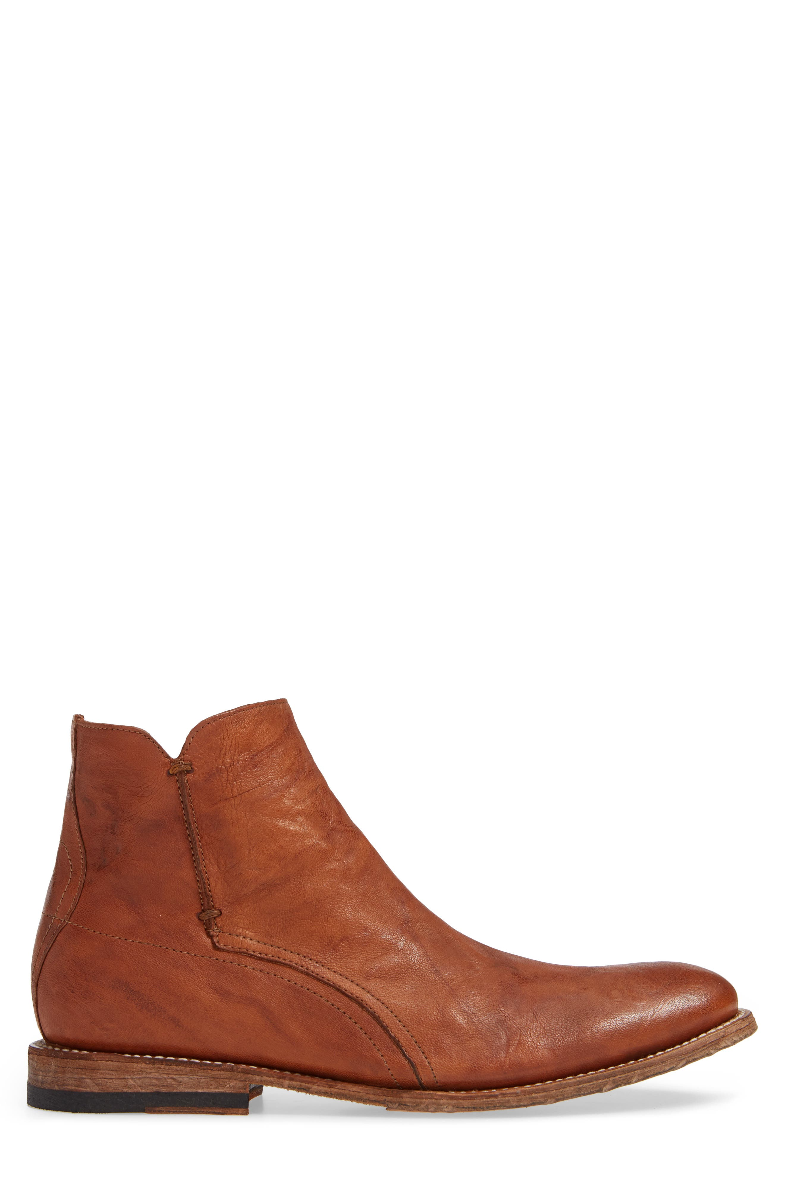 TWO24, by Ariat Lockwood Zip Boot, Alternate thumbnail 3, color, COGNAC LEATHER