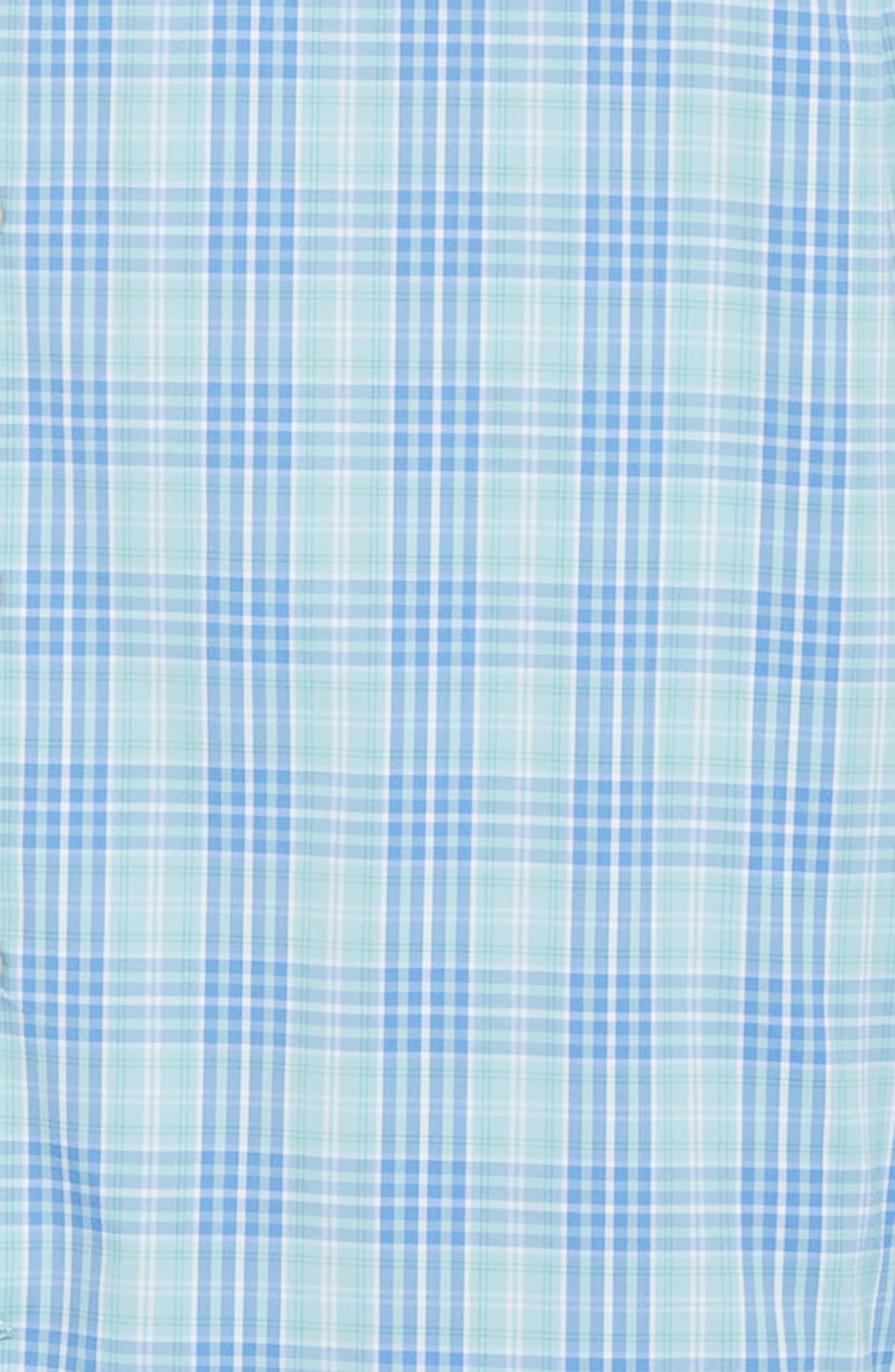 PETER MILLAR, Waterson Plaid Performance Sport Shirt, Alternate thumbnail 6, color, OASIS
