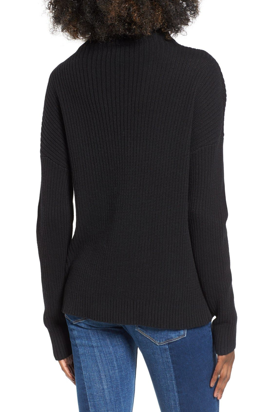 BP., Mock Neck Sweater, Alternate thumbnail 2, color, 001
