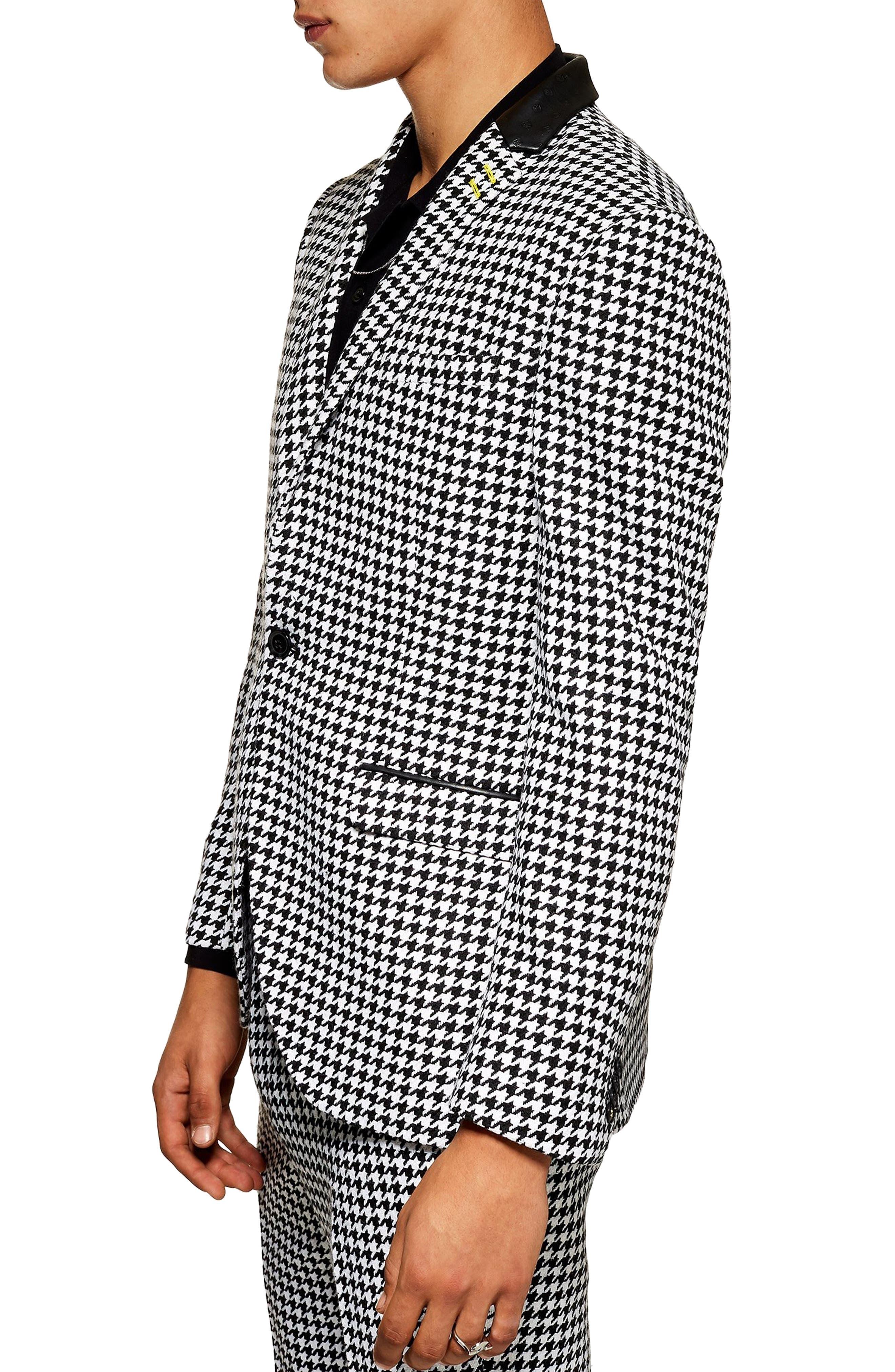 TOPMAN, Roe Skinny Fit Suit Jacket, Alternate thumbnail 4, color, 001