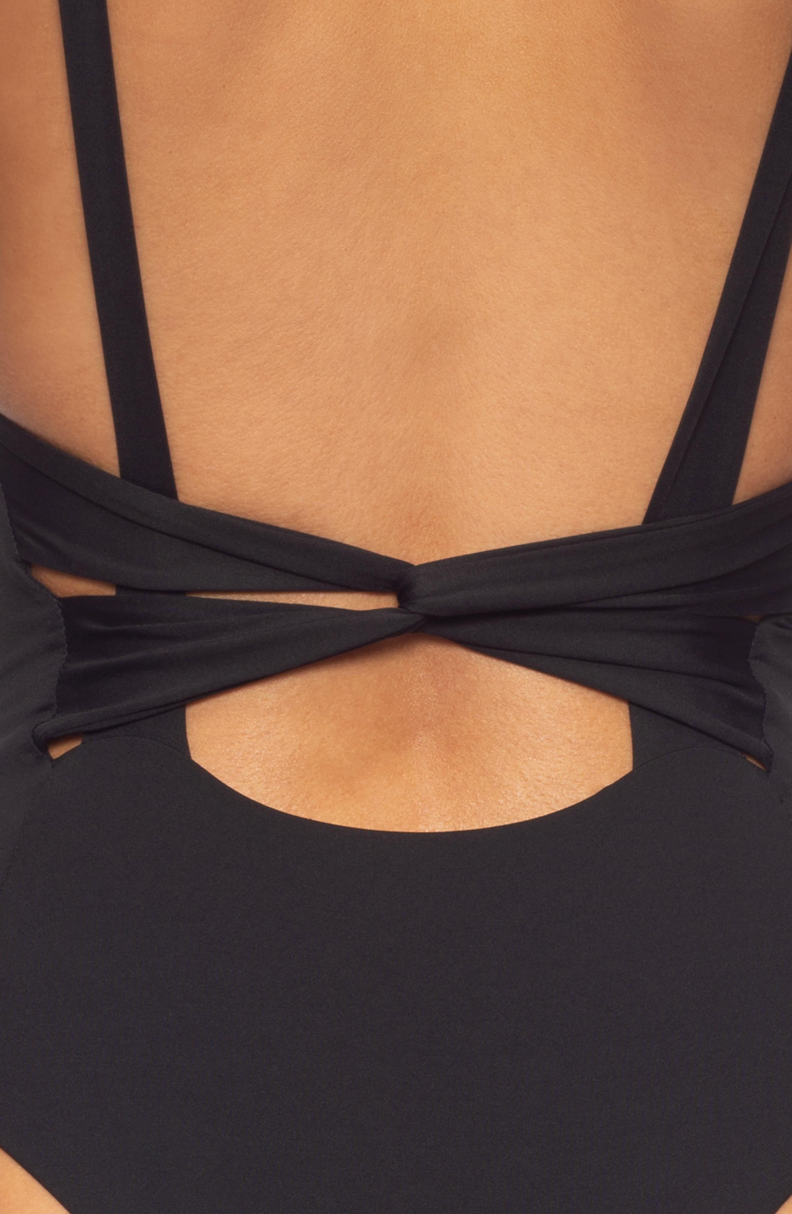 TAVIK, Claire One-Piece Swimsuit, Alternate thumbnail 5, color, BLACK