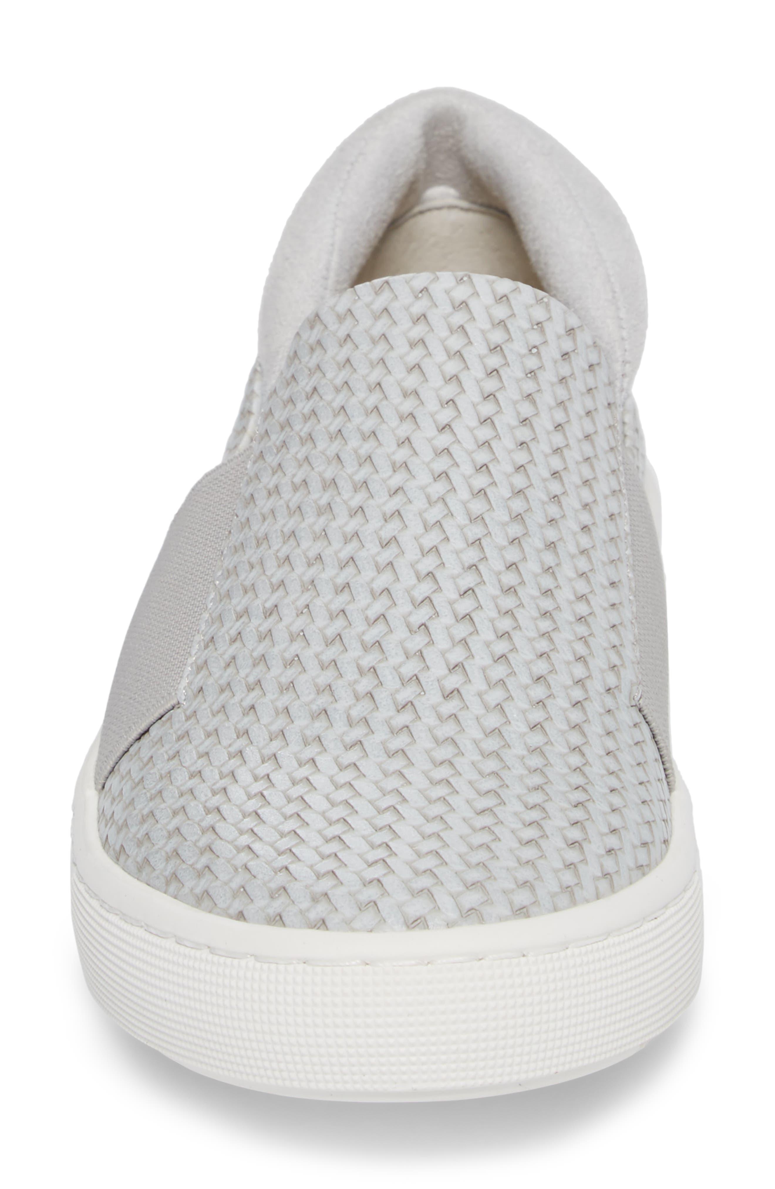 BELLA VITA, Ramp II Slip-On Sneaker, Alternate thumbnail 4, color, LIGHT GREY FABRIC
