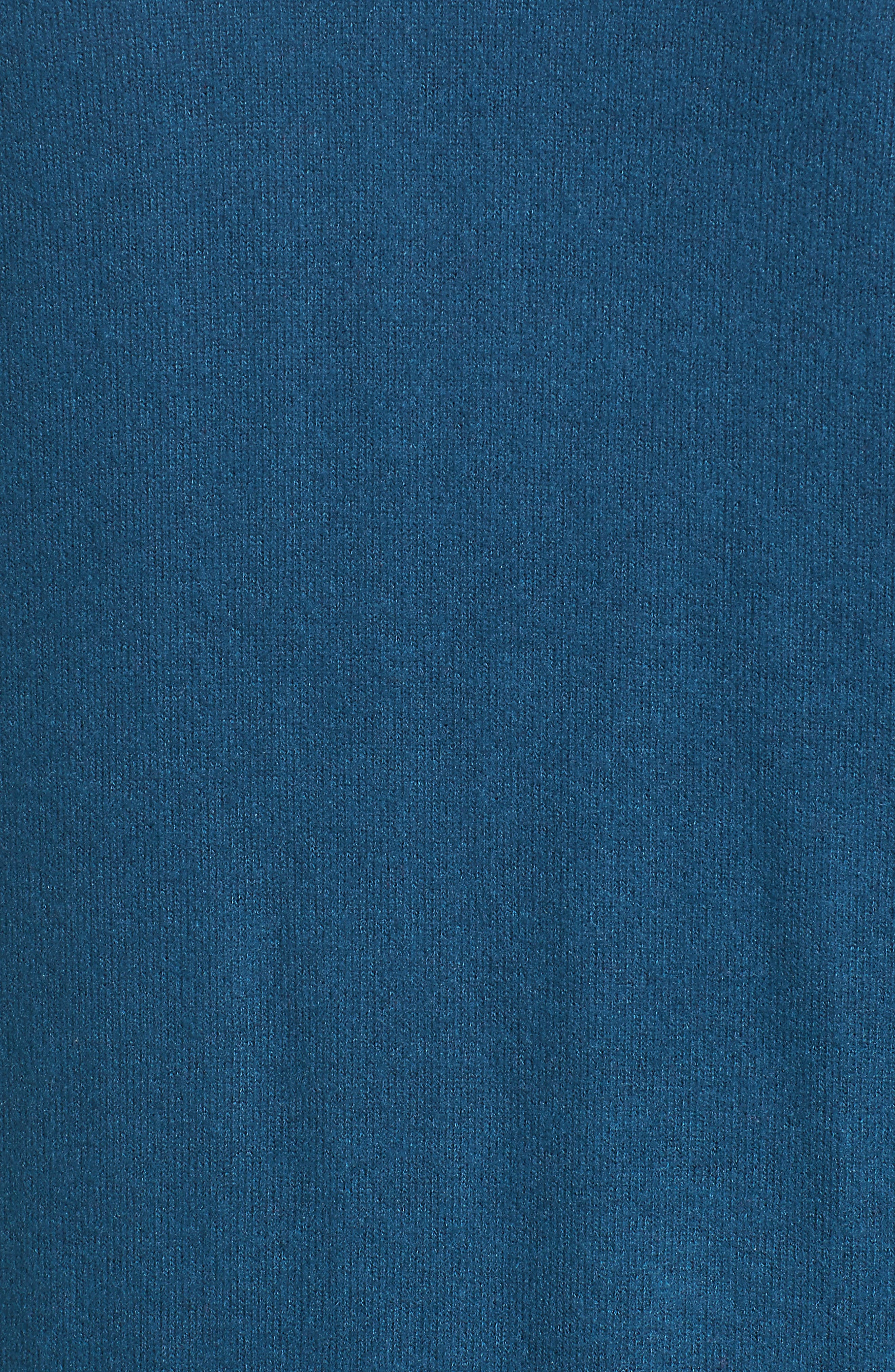 GIBSON, Rib Knit Cardigan, Alternate thumbnail 5, color, BLUE CERAMIC