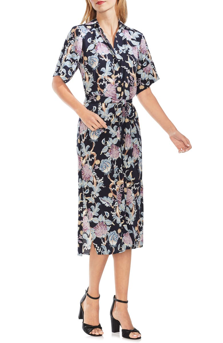Vince Camuto Dresses POETIC BLOOMS BELTED SHIRTDRESS