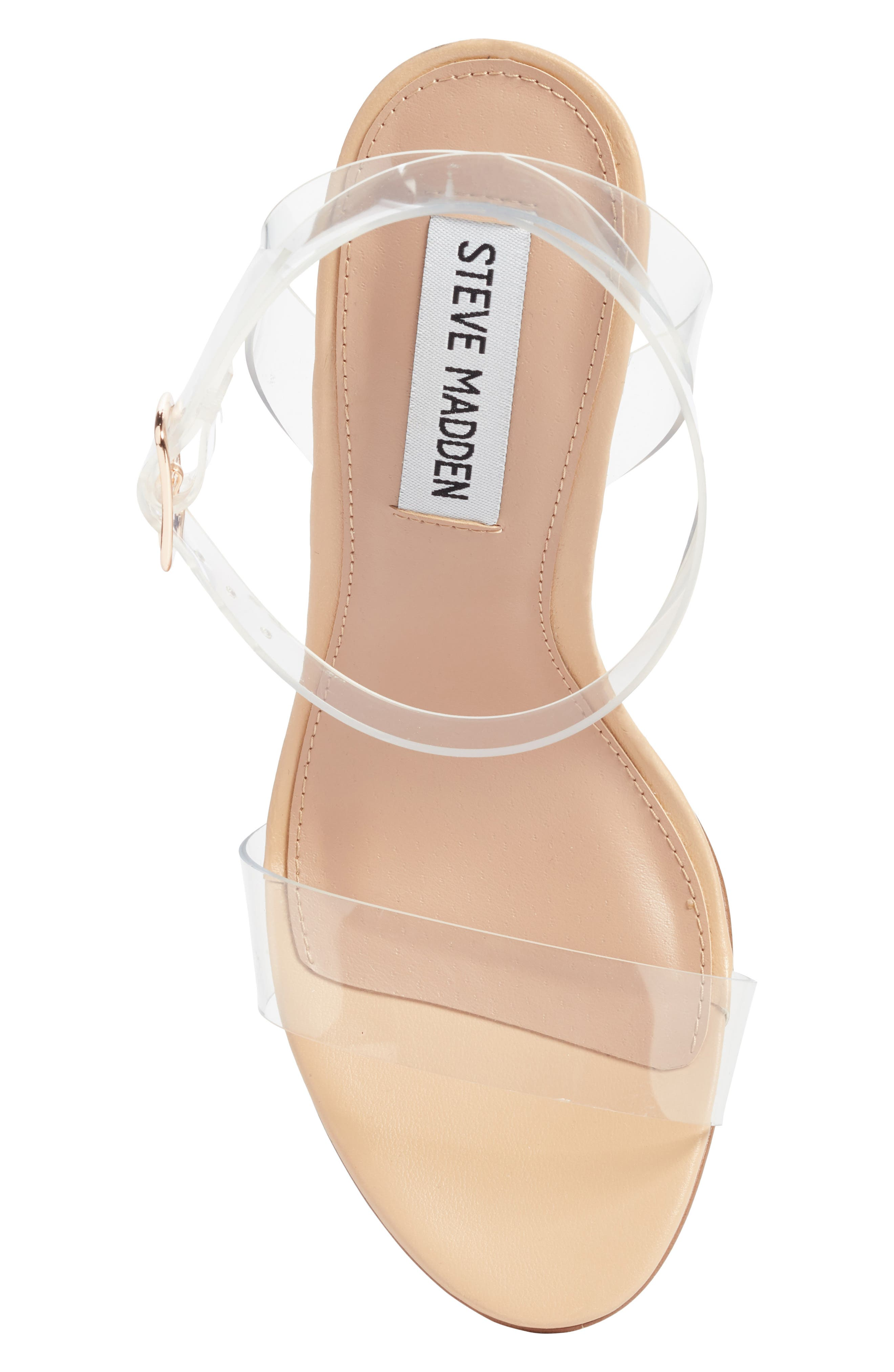STEVE MADDEN, Camille Clear Sandal, Alternate thumbnail 5, color, CLEAR