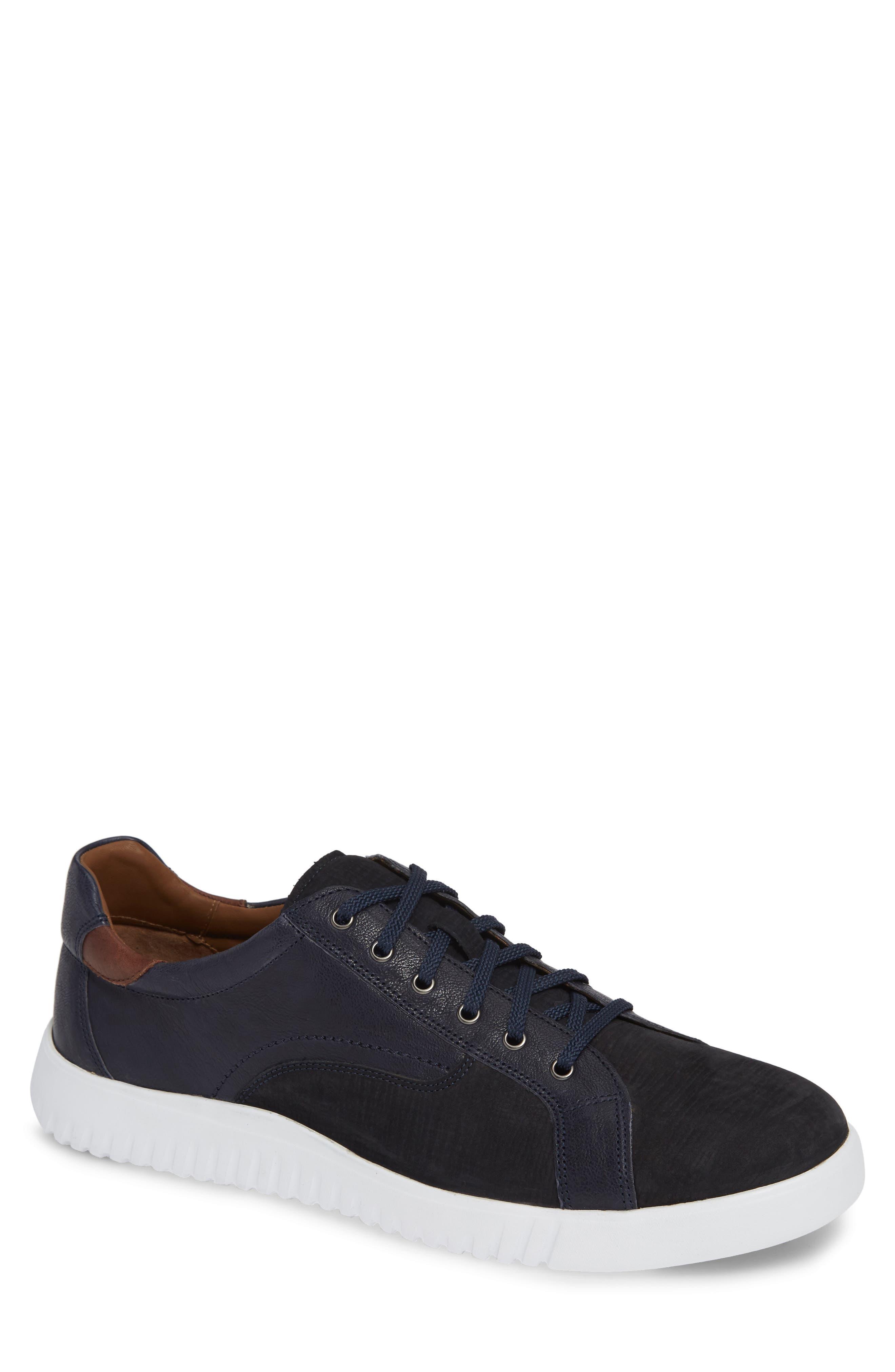 JOHNSTON & MURPHY, McFarland Sneaker, Main thumbnail 1, color, NAVY NUBUCK