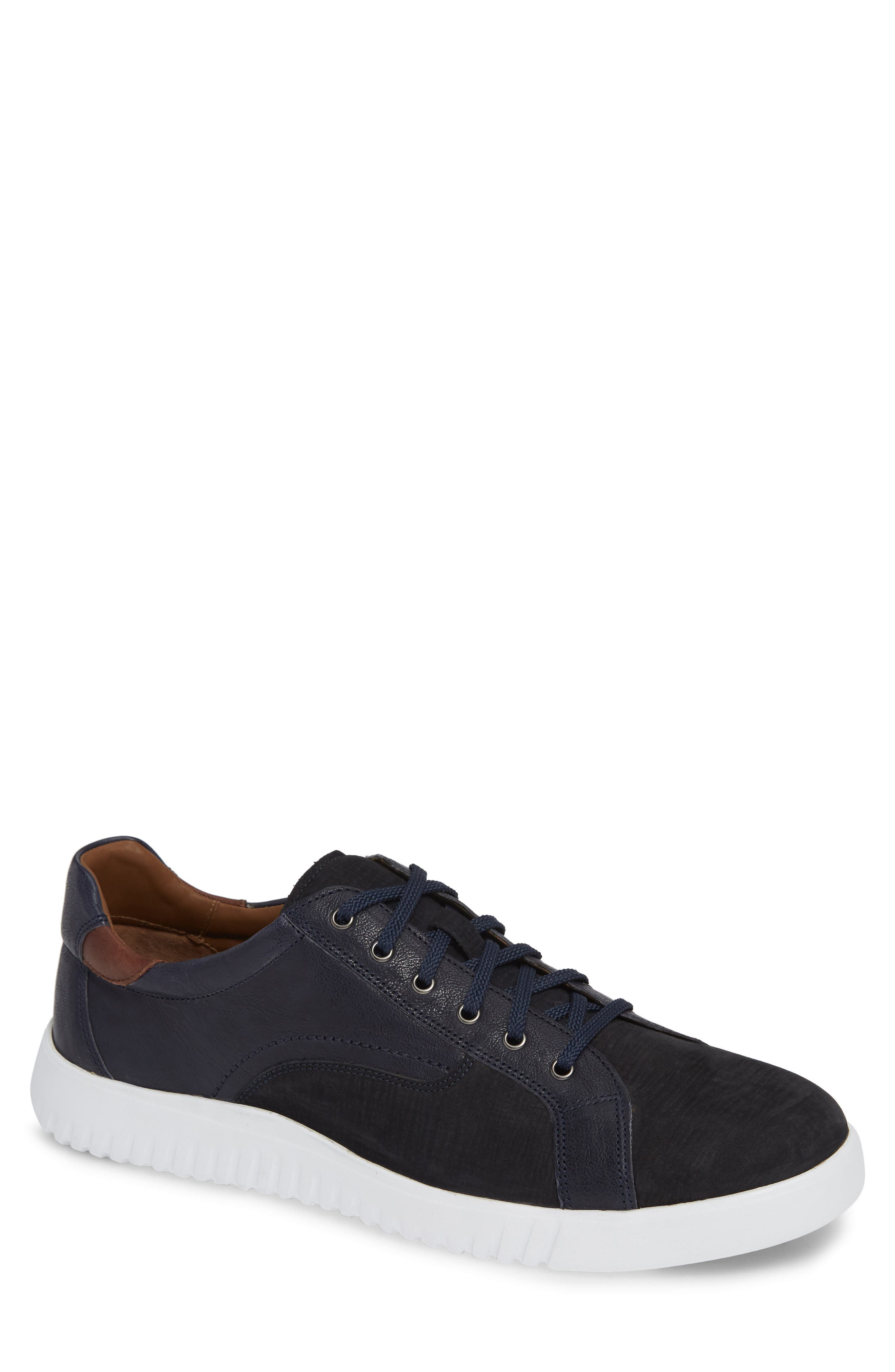 JOHNSTON & MURPHY McFarland Sneaker, Main, color, NAVY NUBUCK